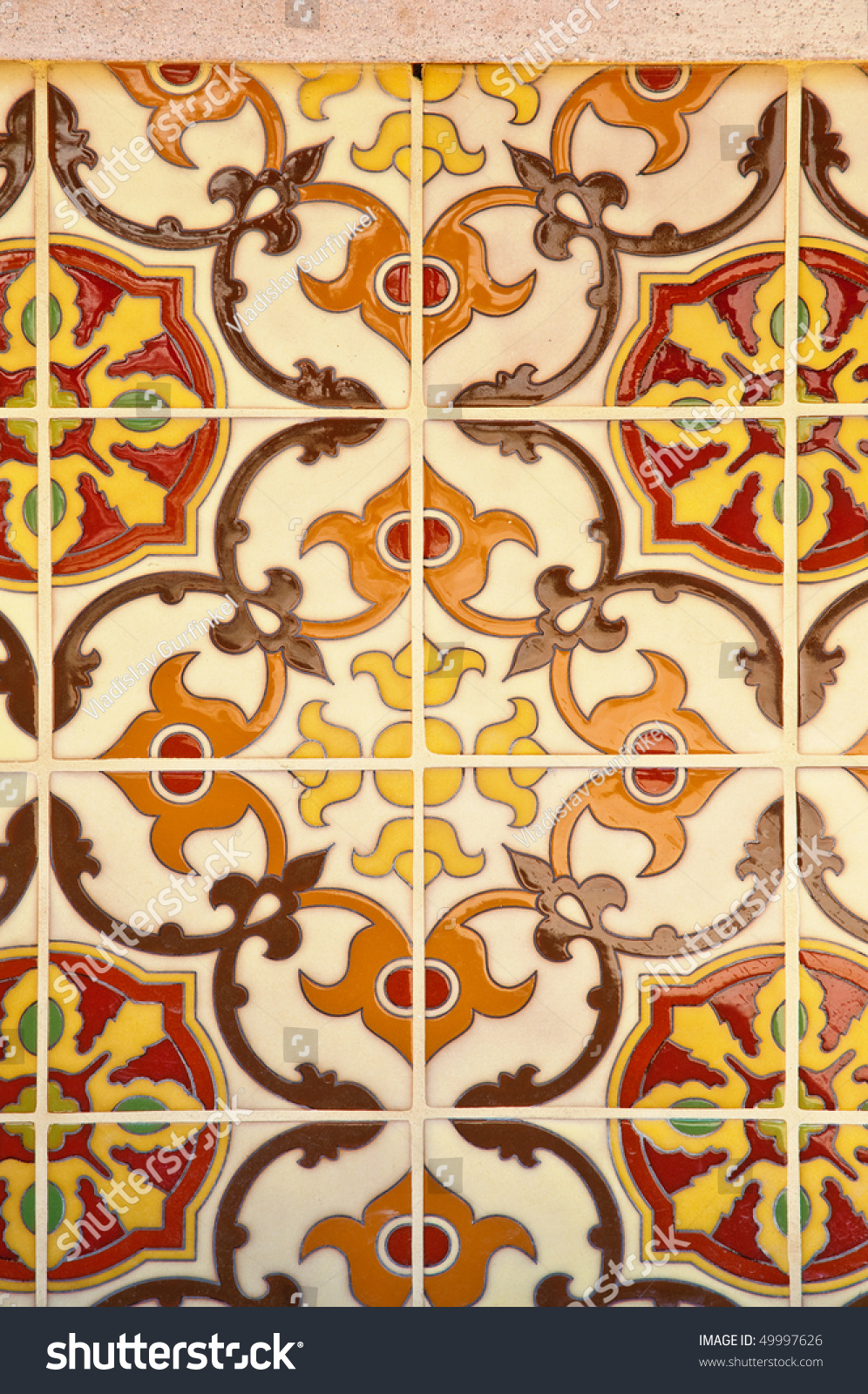 Colorful Vintage Spanish Style Ceramic Tiles Stock Photo Edit Now