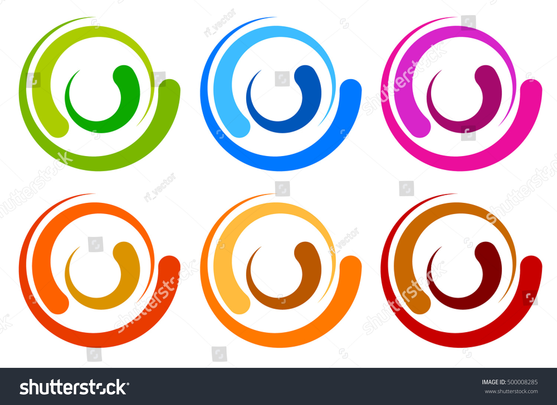 Colorful Circle Logo Icon Templates Concentric Stock Vector ...