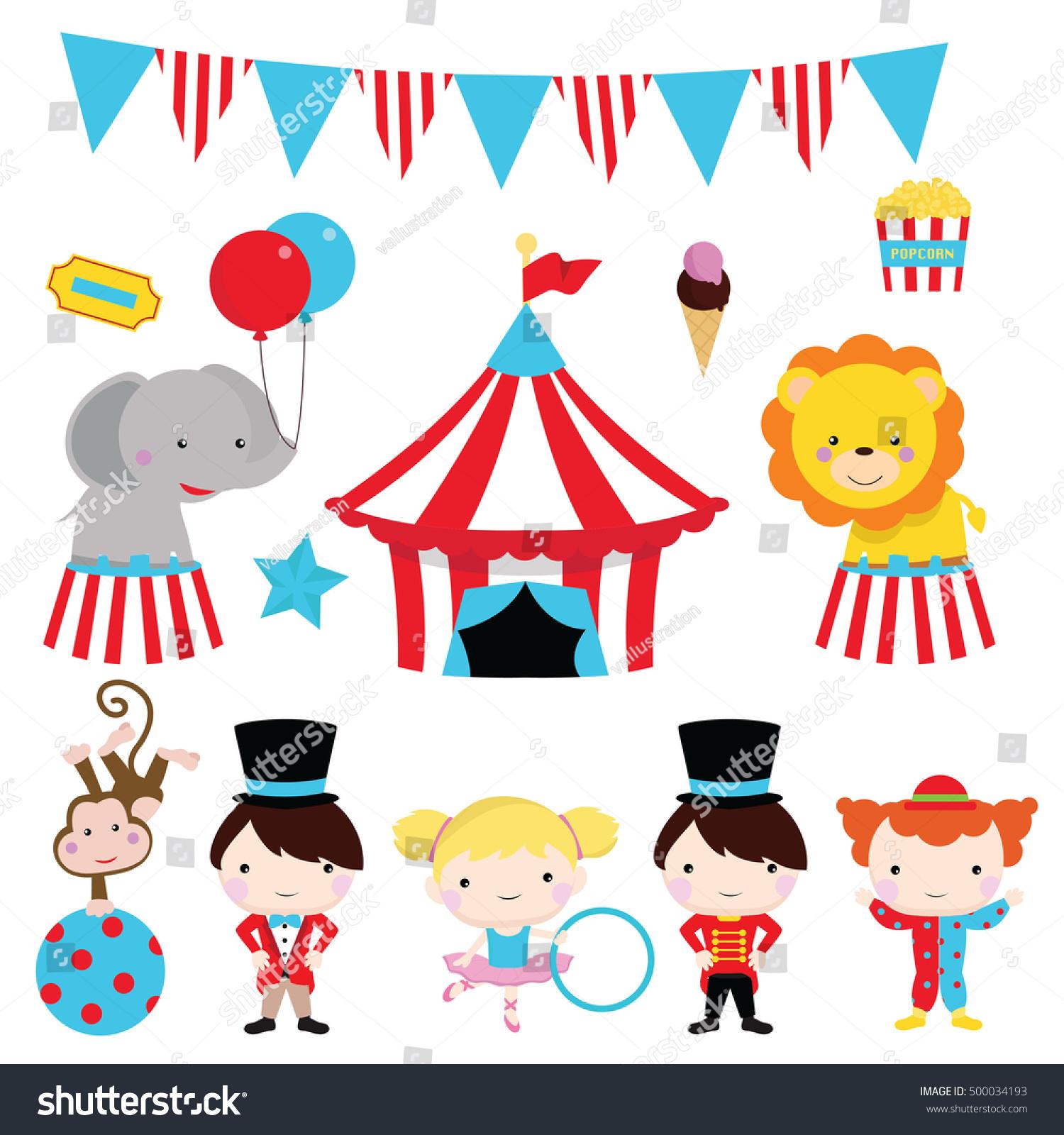 cute circus clip art party fun stock vector 500034193 shutterstock