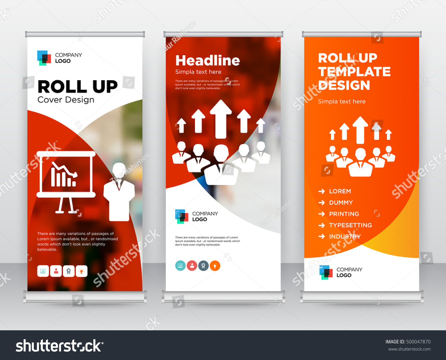 coaching brochure template - red orange training growing team building stock vector