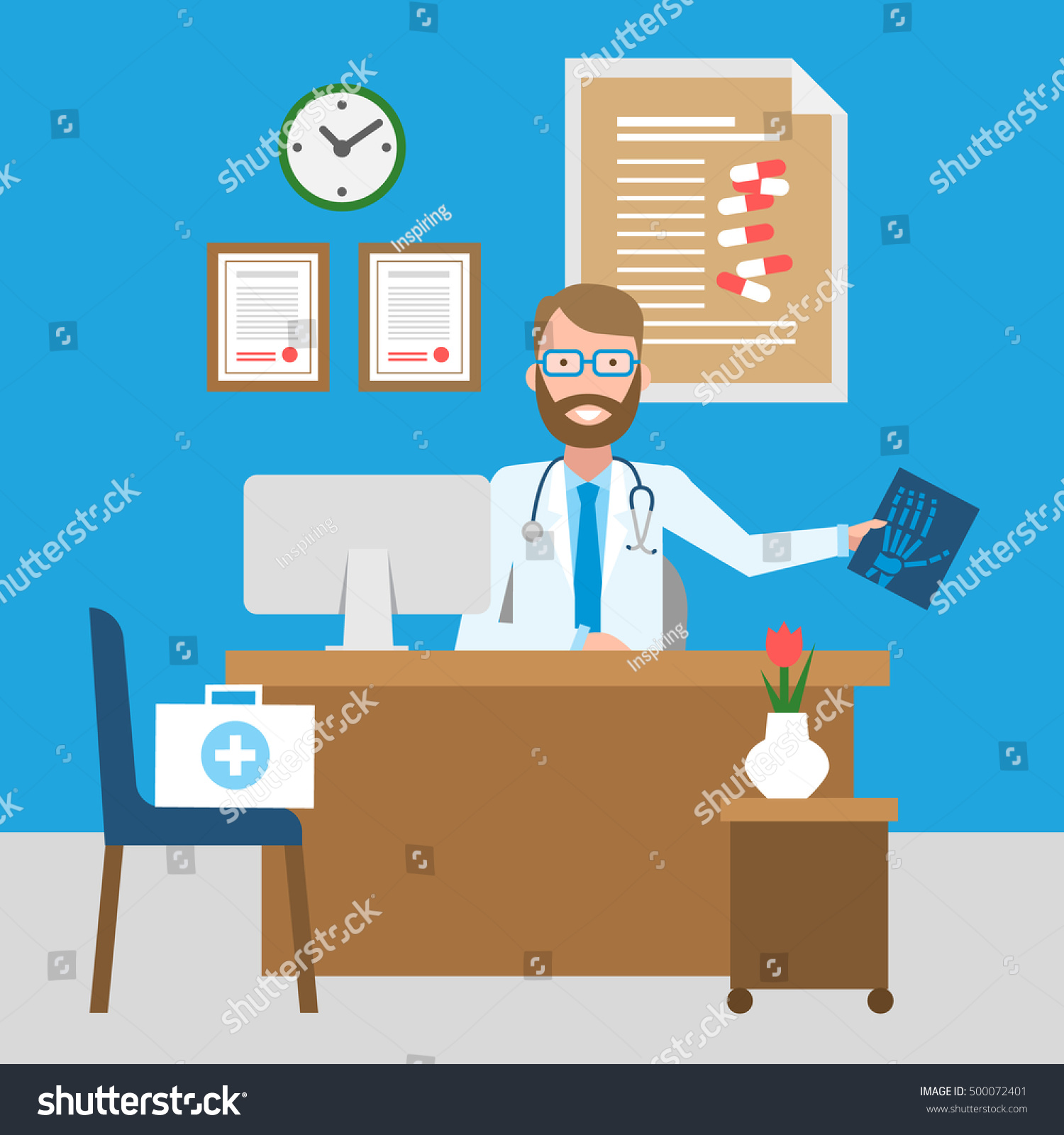 Photo De Cabinet Medical doctor cabinet funny smiling male doctor | people