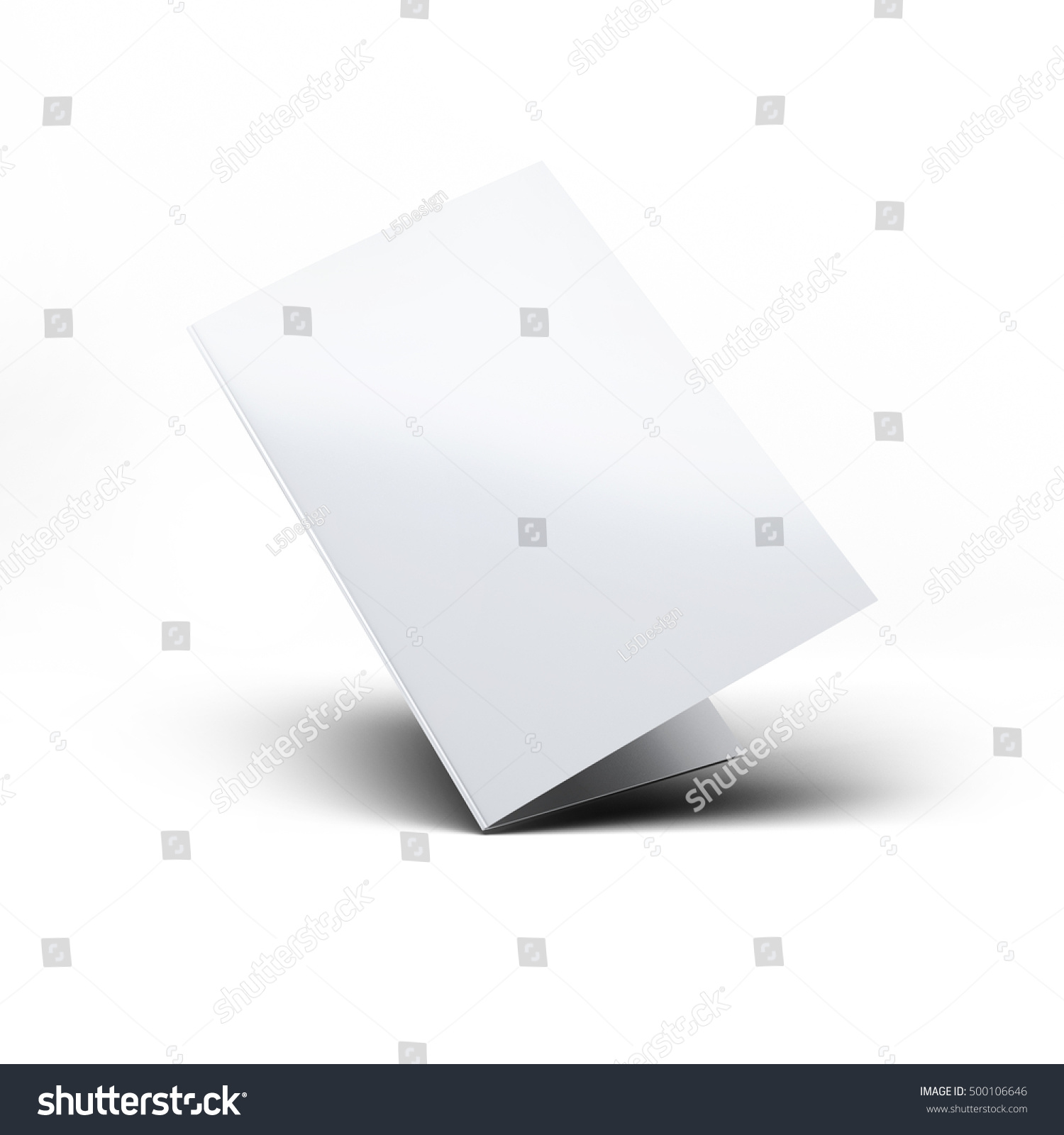 Blank Folded Postcard Invitation Greeting Card Stock Illustration