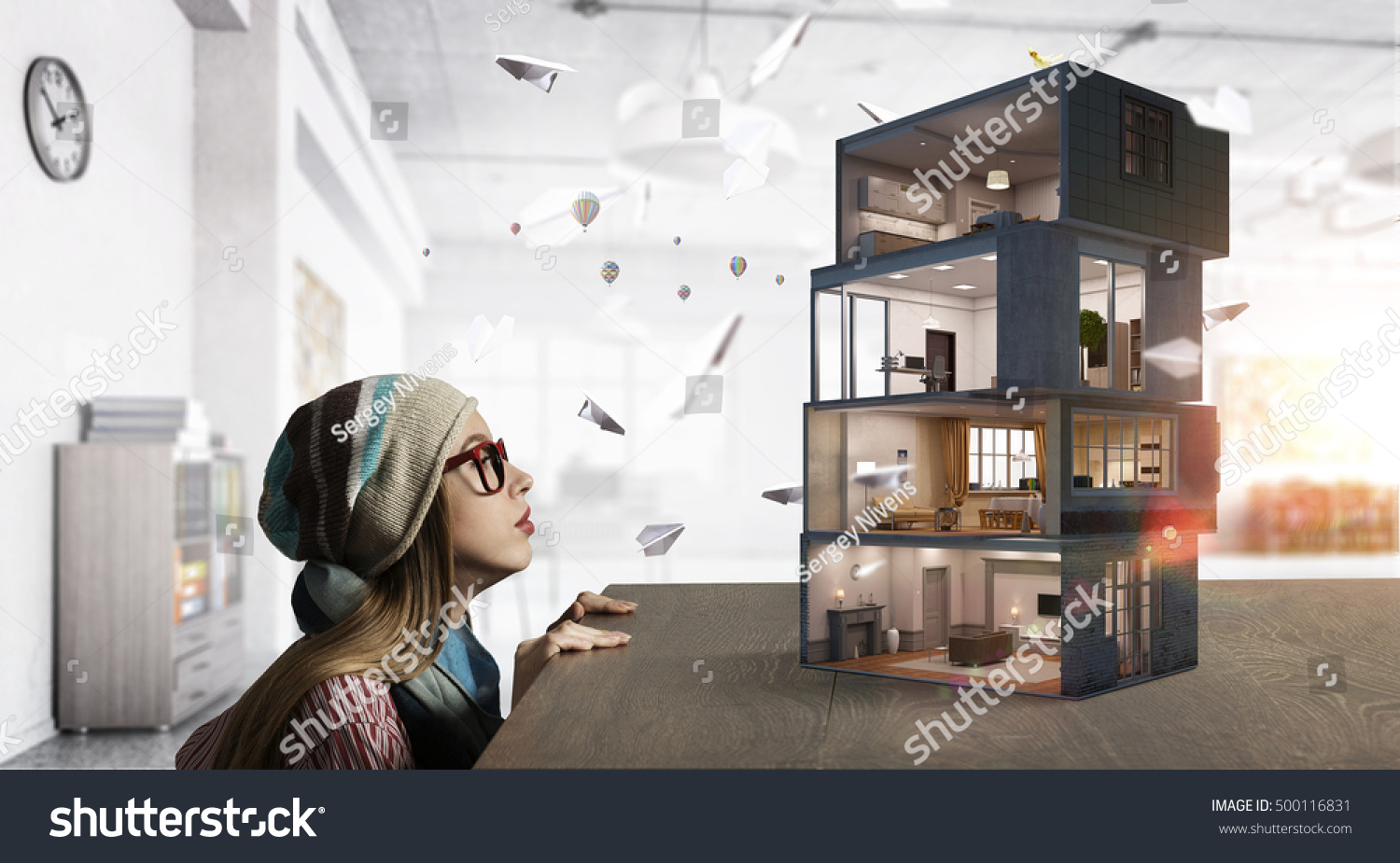 Design Your Dream House Mixed Media Stock Photo (Download Now ...