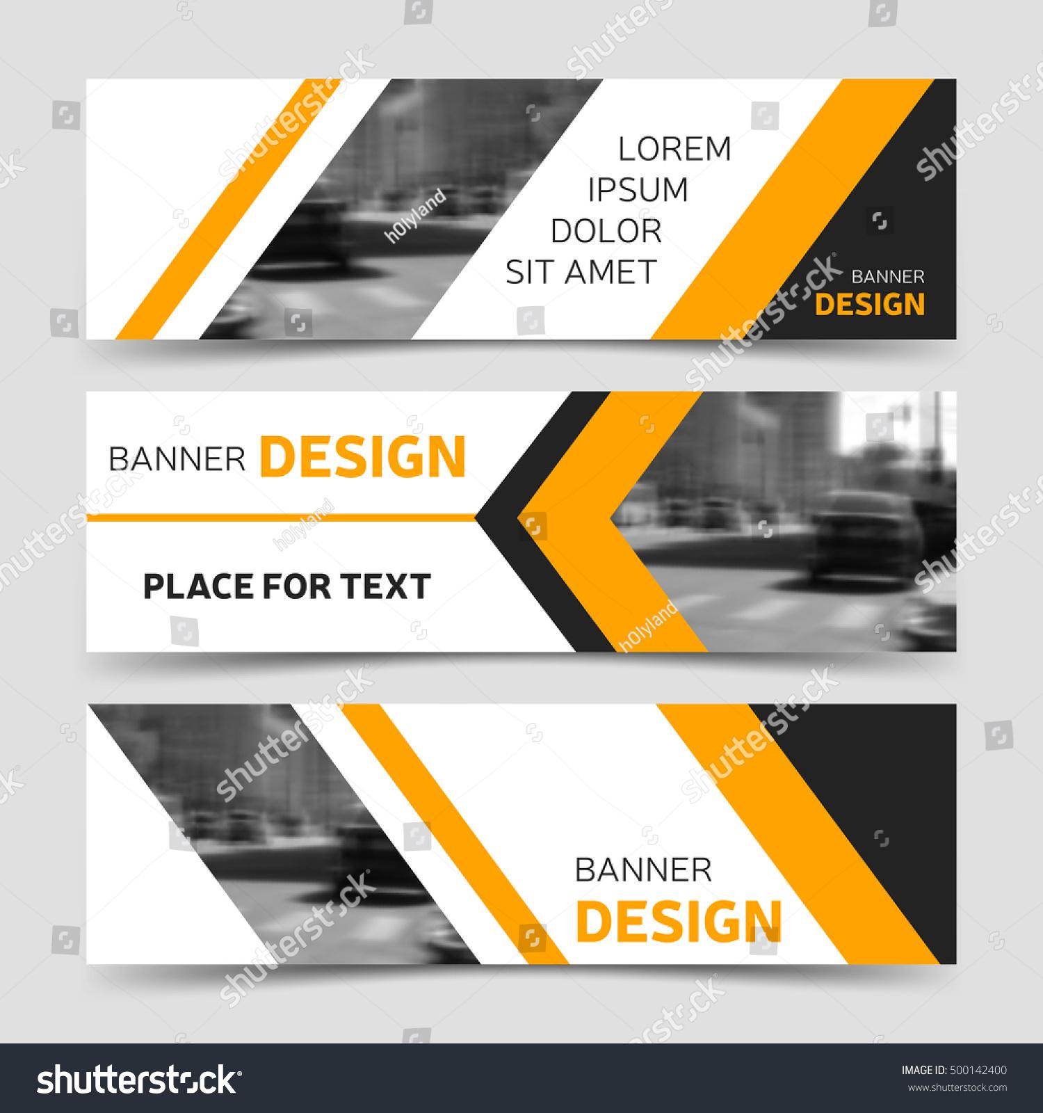 Set yellow horizontal business banner templates stock vector set of yellow horizontal business banner templates corporate identity banner website banner design flashek Choice Image