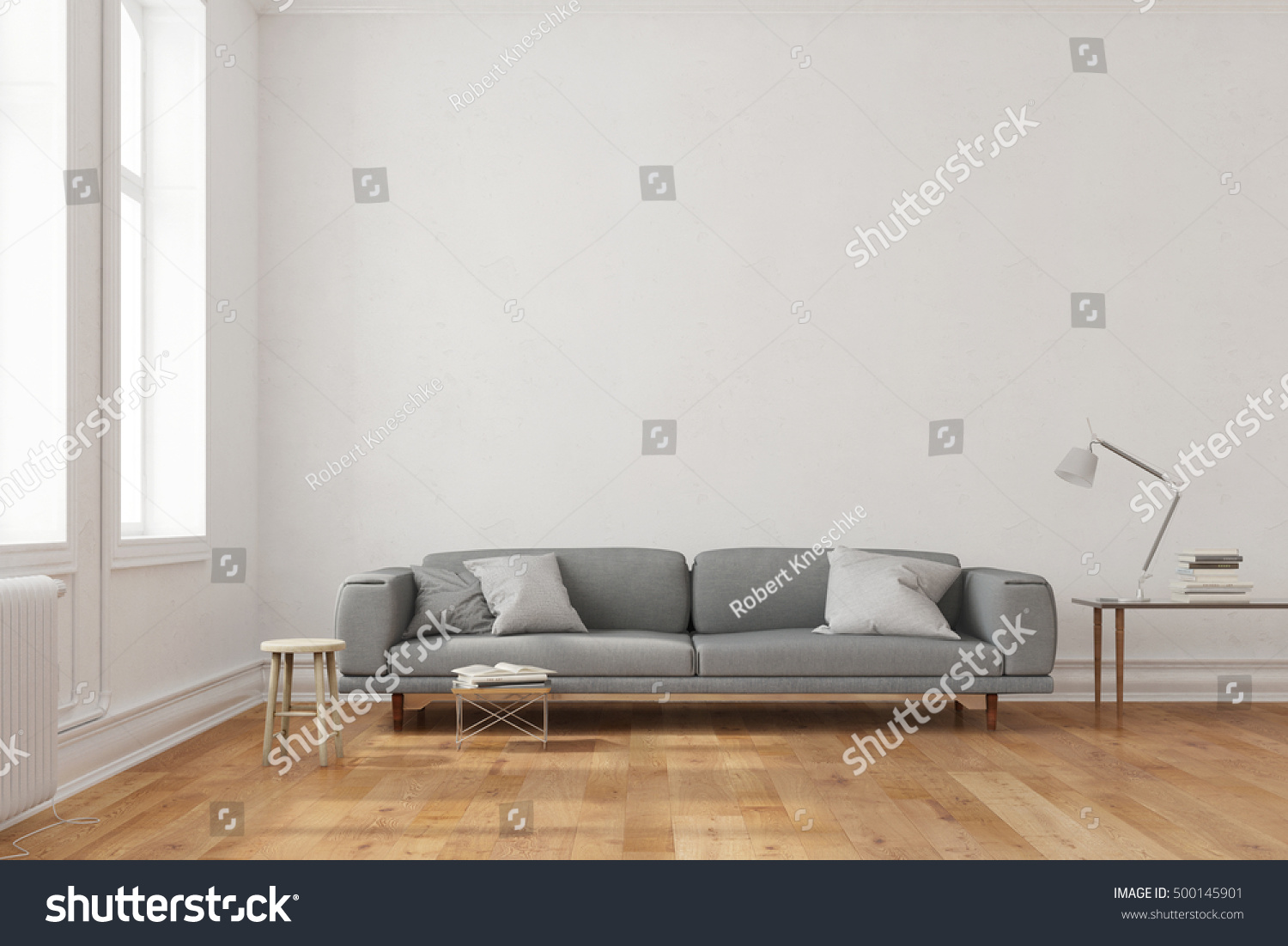 Space Canvas On Wall Over Couch Stock Illustration 500145901 ...
