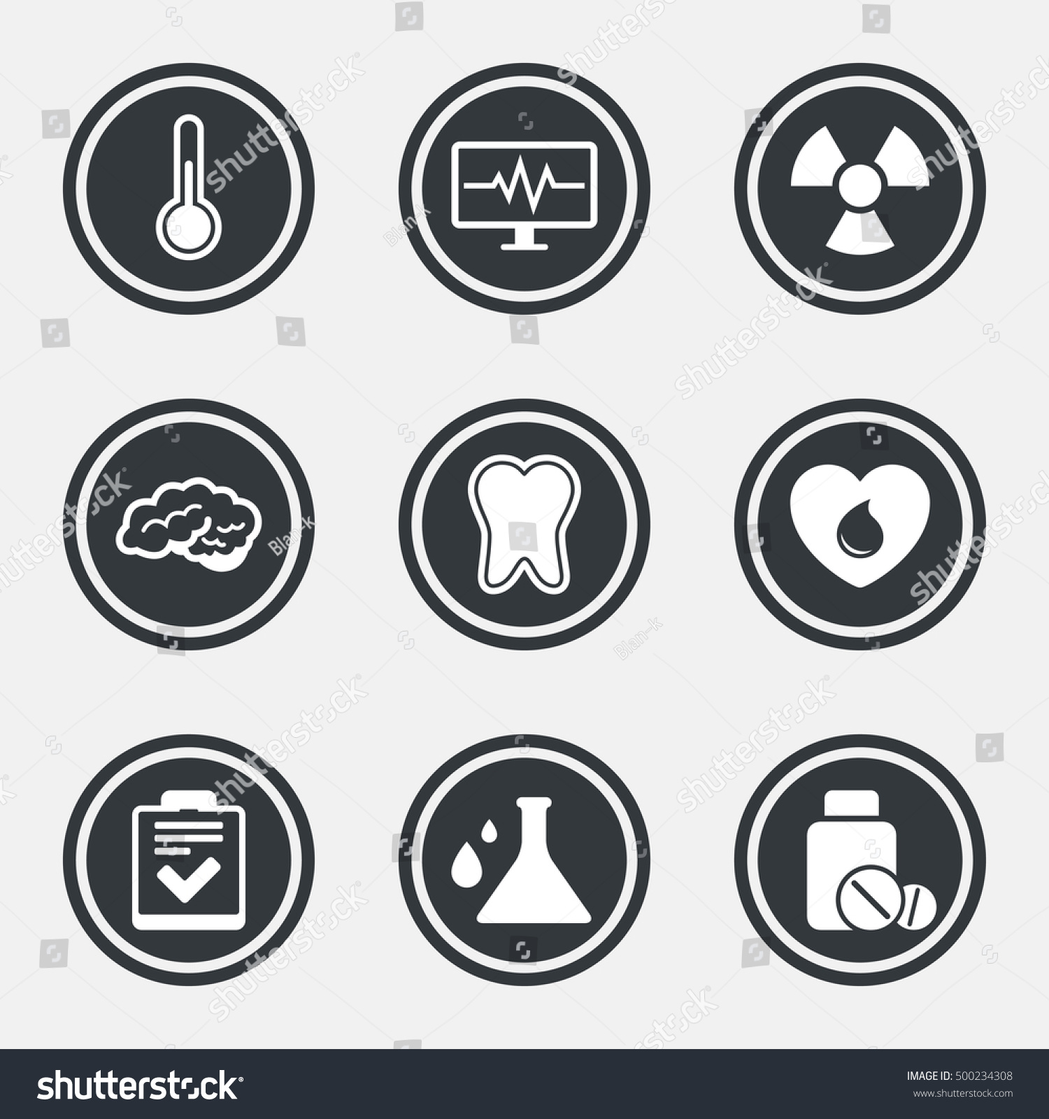 Medicine medical health diagnosis icons blood stock vector medicine medical health and diagnosis icons blood donate thermometer and pills signs biocorpaavc Gallery