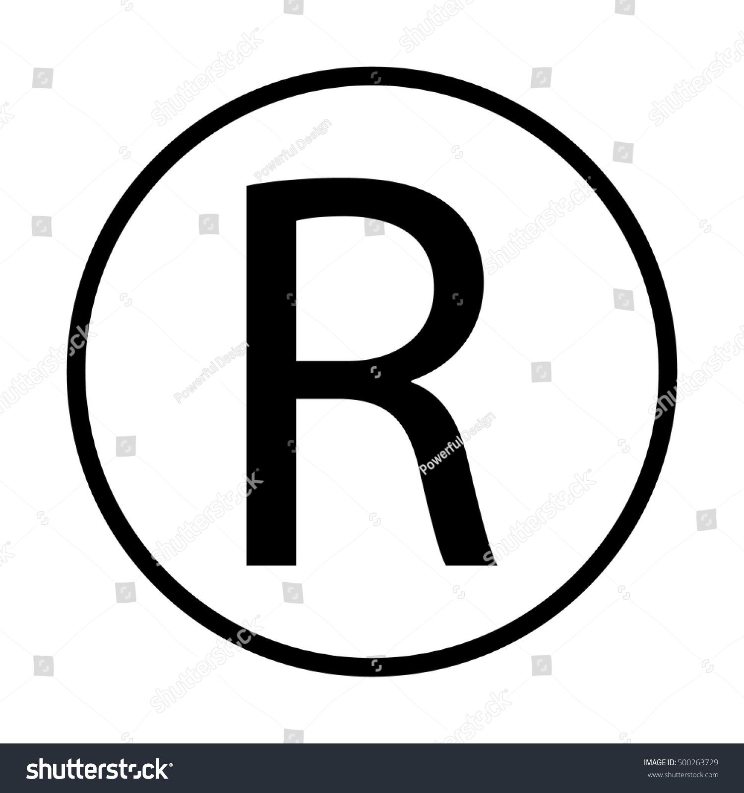 Registered Trademark Symbol Stock Vector Royalty Free 500263729