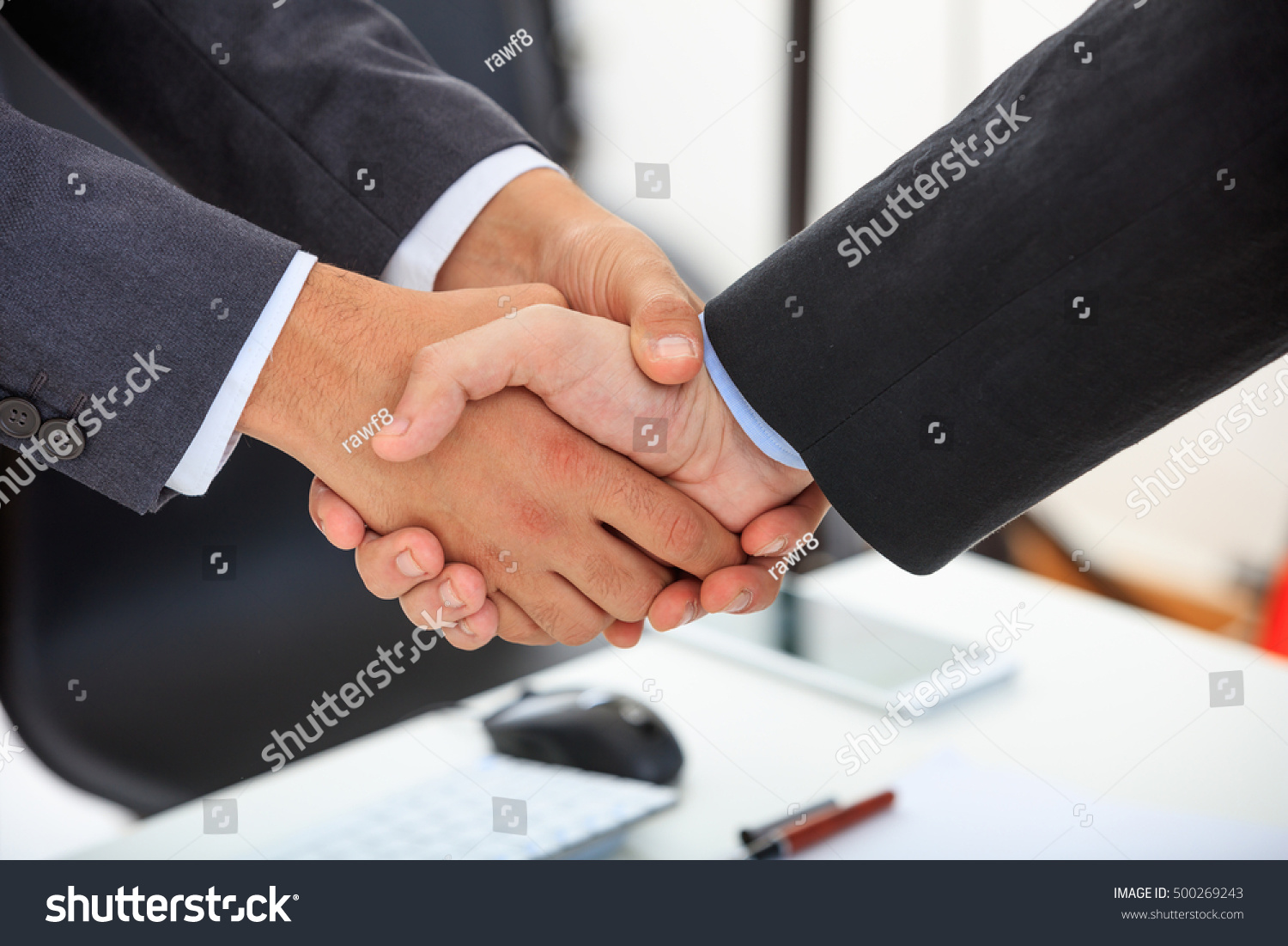 Business People Greeting Each Other Ez Canvas