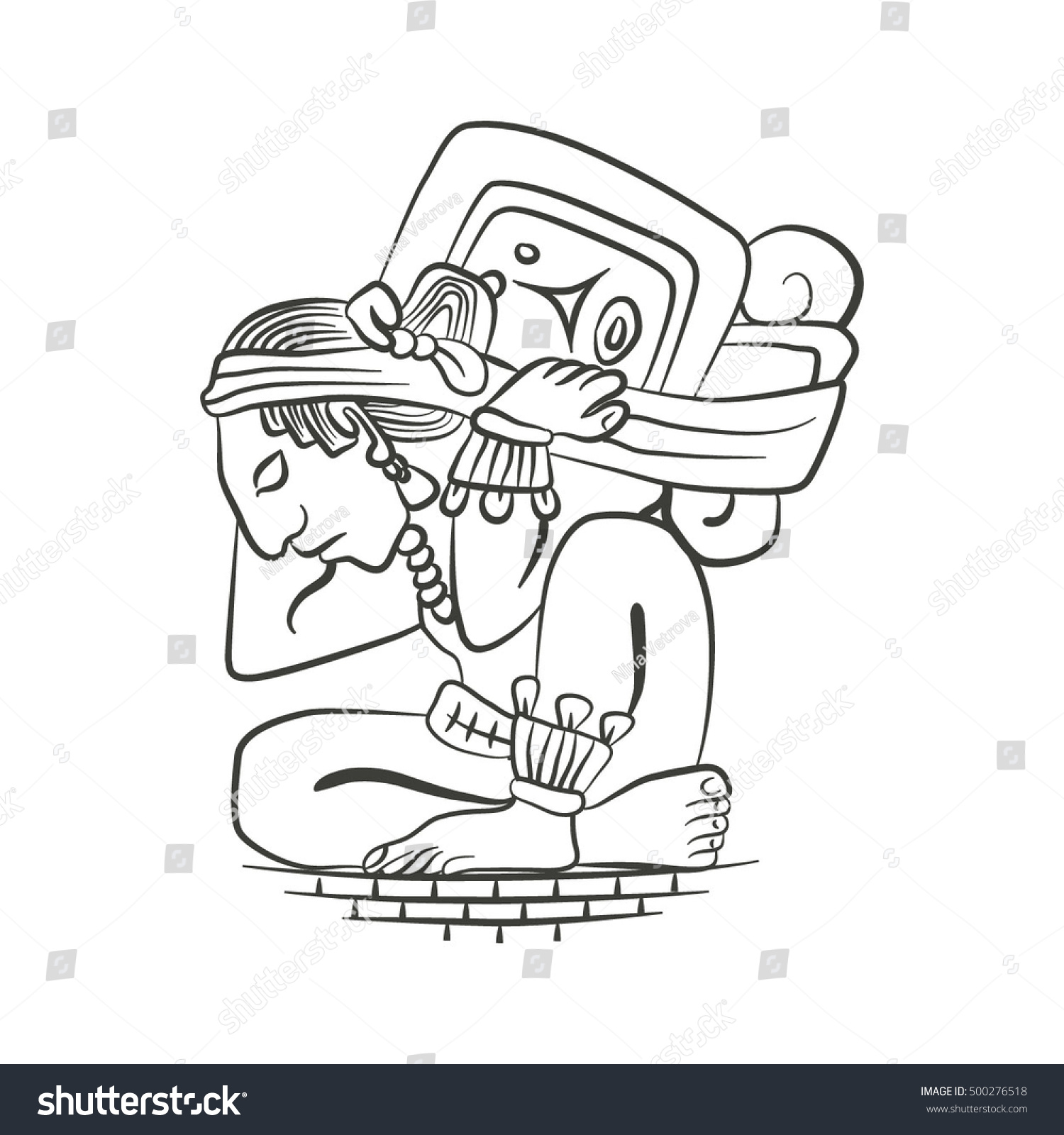 vector image mayan mexican culture history stock vector 500276518