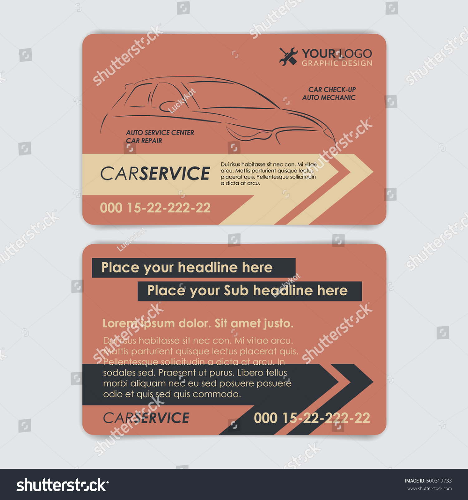 Service car business card template create stock vector 500319733 service car business card template create your own business cards vector illustration colourmoves