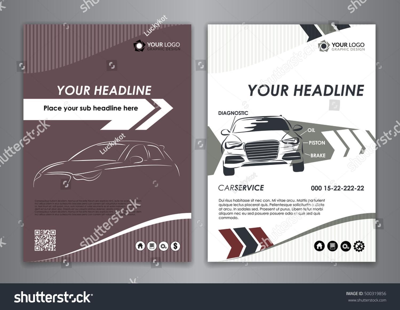 A 5 A 4 Set Service Car Business Stock Vector 500319856 - Shutterstock