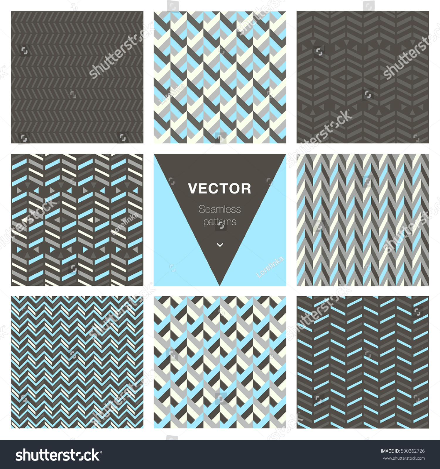 Collection of 8 popular geometric patterns.