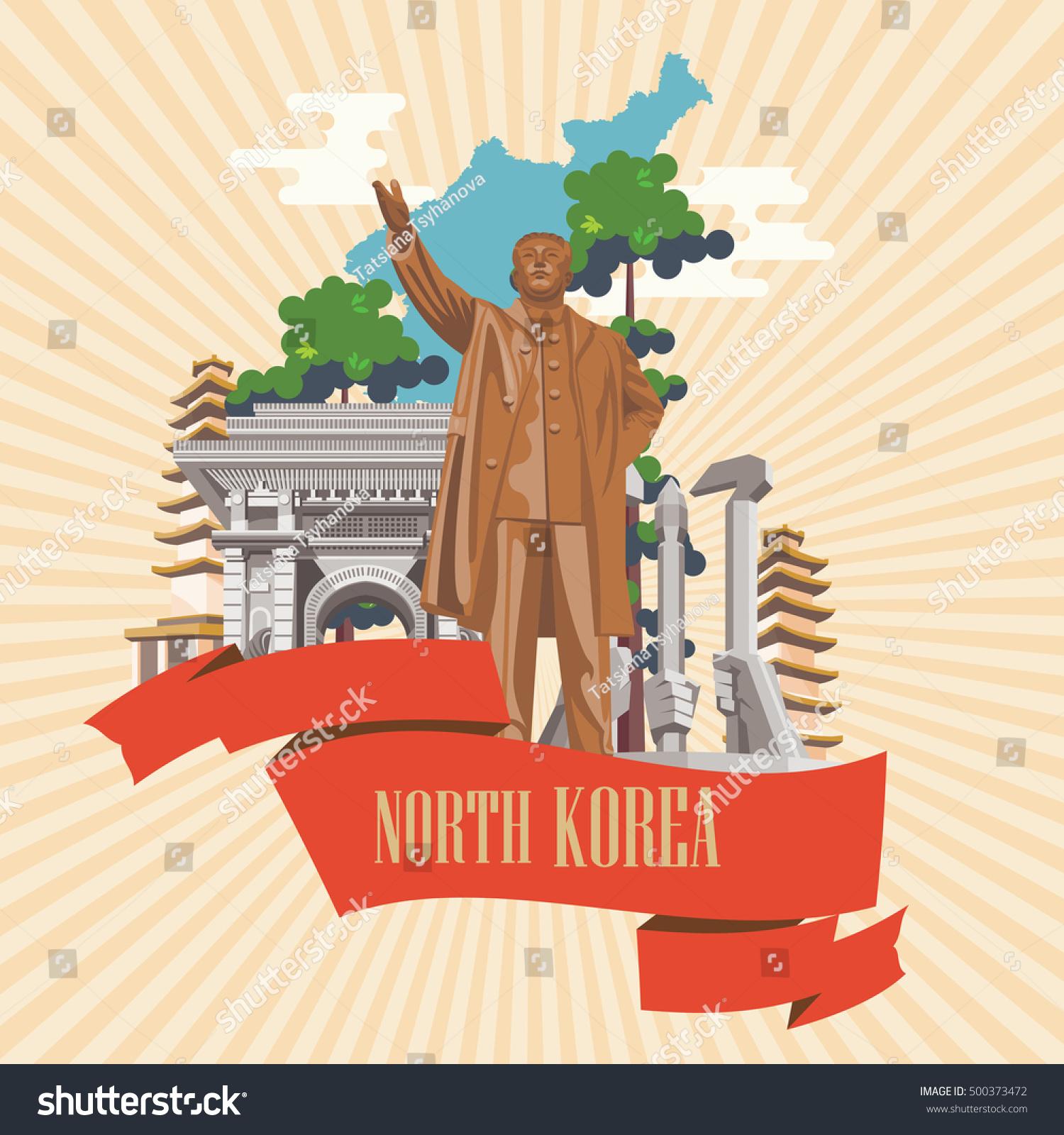 north korea poster statue korean leader stock vector royalty free 500373472 https www shutterstock com image vector north korea poster statue korean leader 500373472