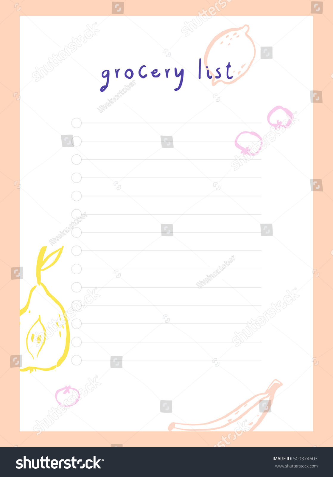 simple shopping list template