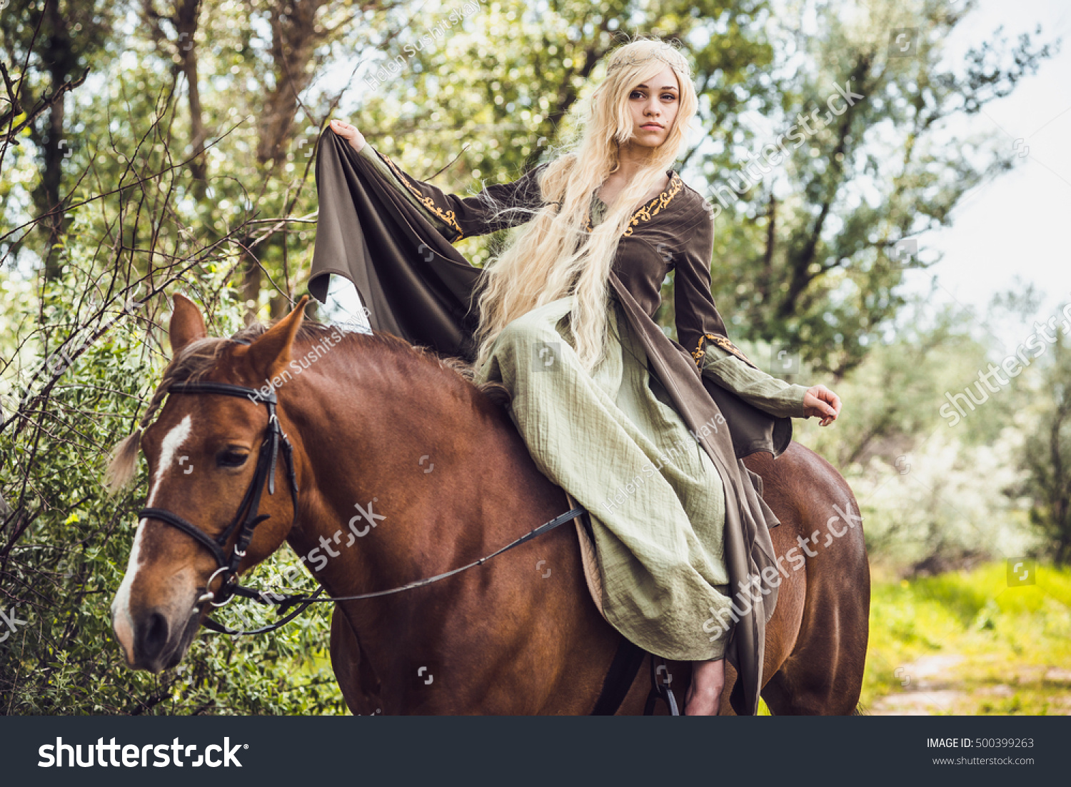 elf-lady and horse
