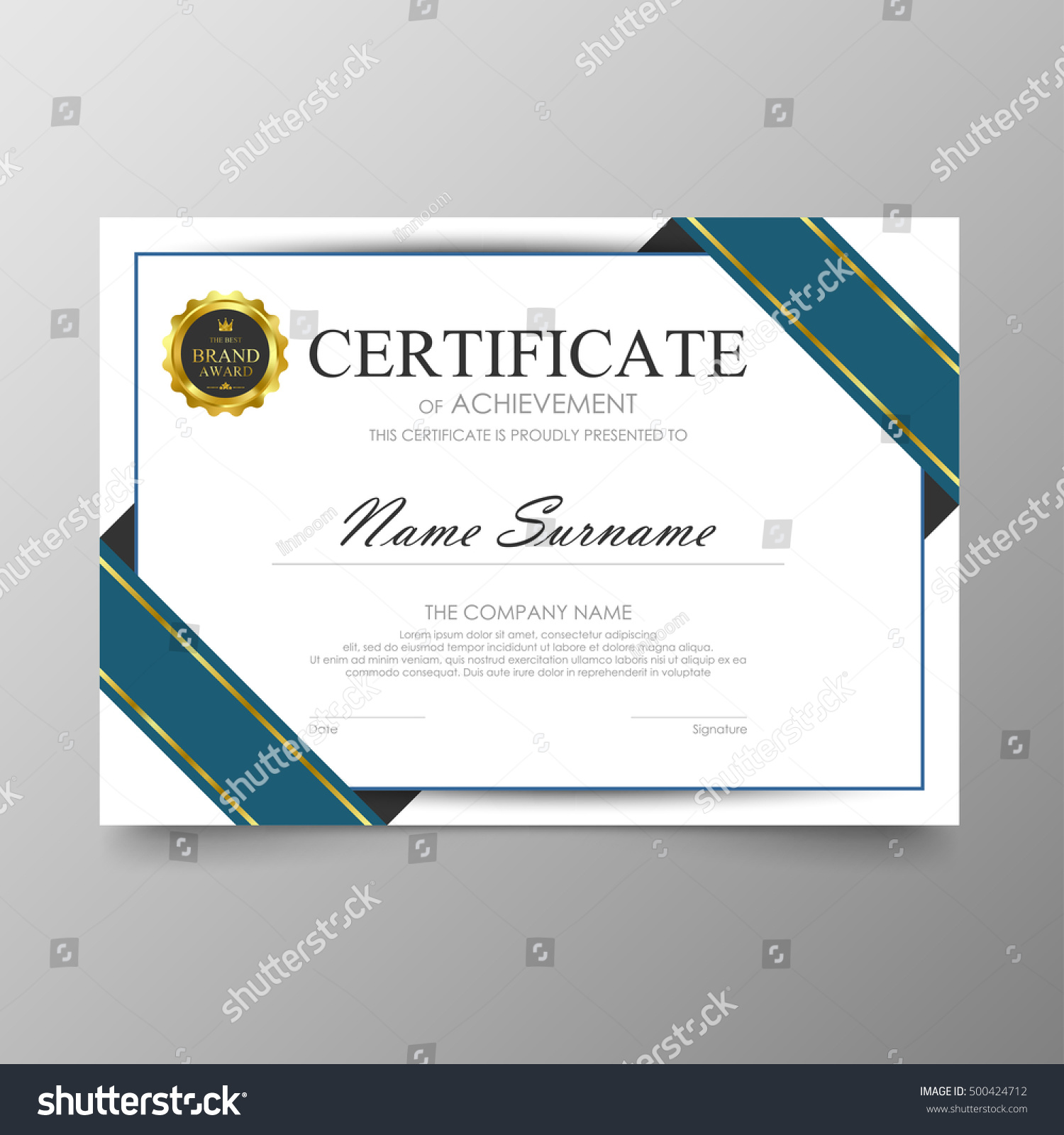 certificate template awards diploma background vector stock vector