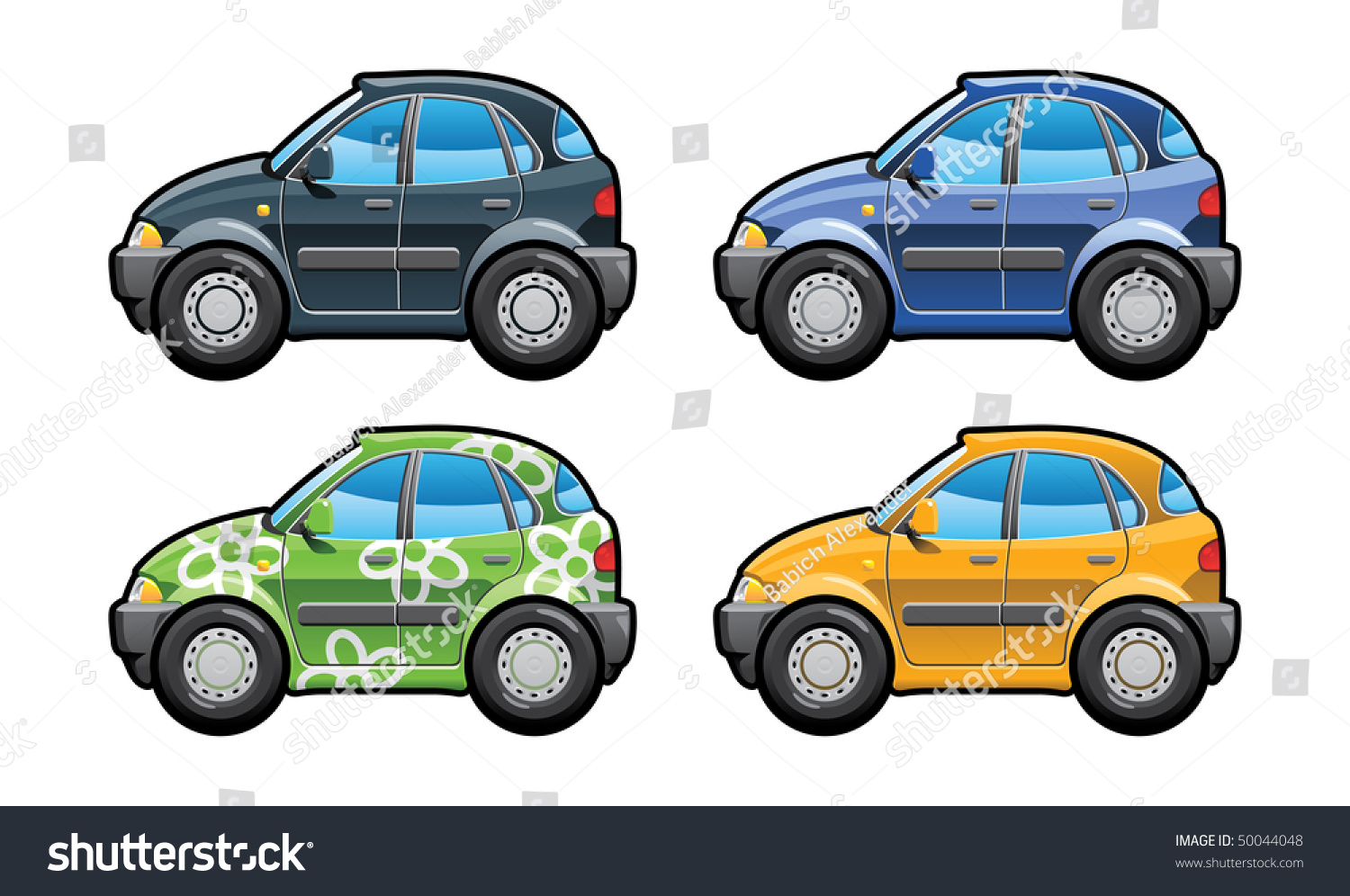 Hatchback part my collections car body stock vector for Simple car parts