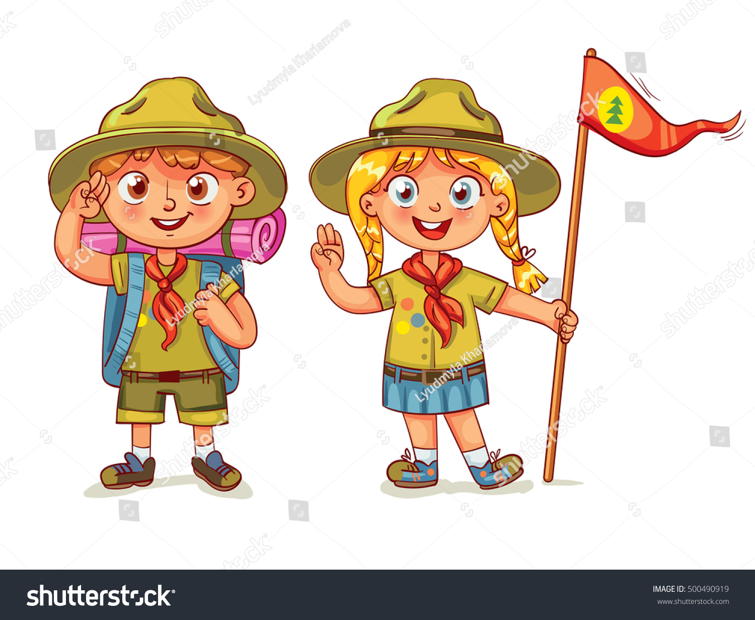 Scout Boy Scout Girl Scout Honor Stock Vector Royalty Free