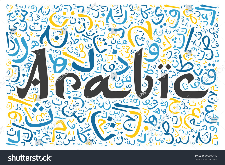 Arabic Alphabet Texture Background Word Arabic Stock