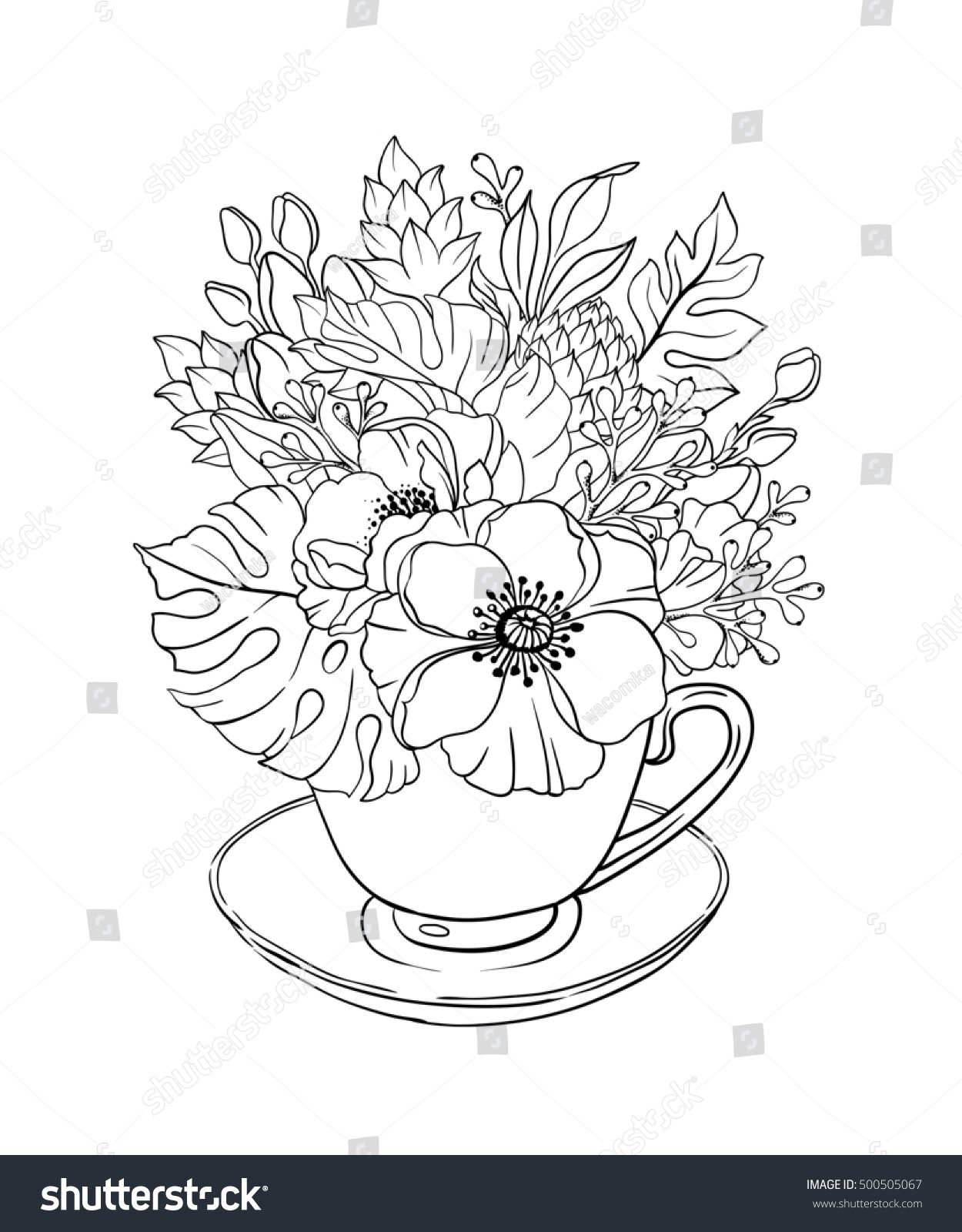 Royalty Free Stock Illustration of Doodle Illustration Coloring Page ...