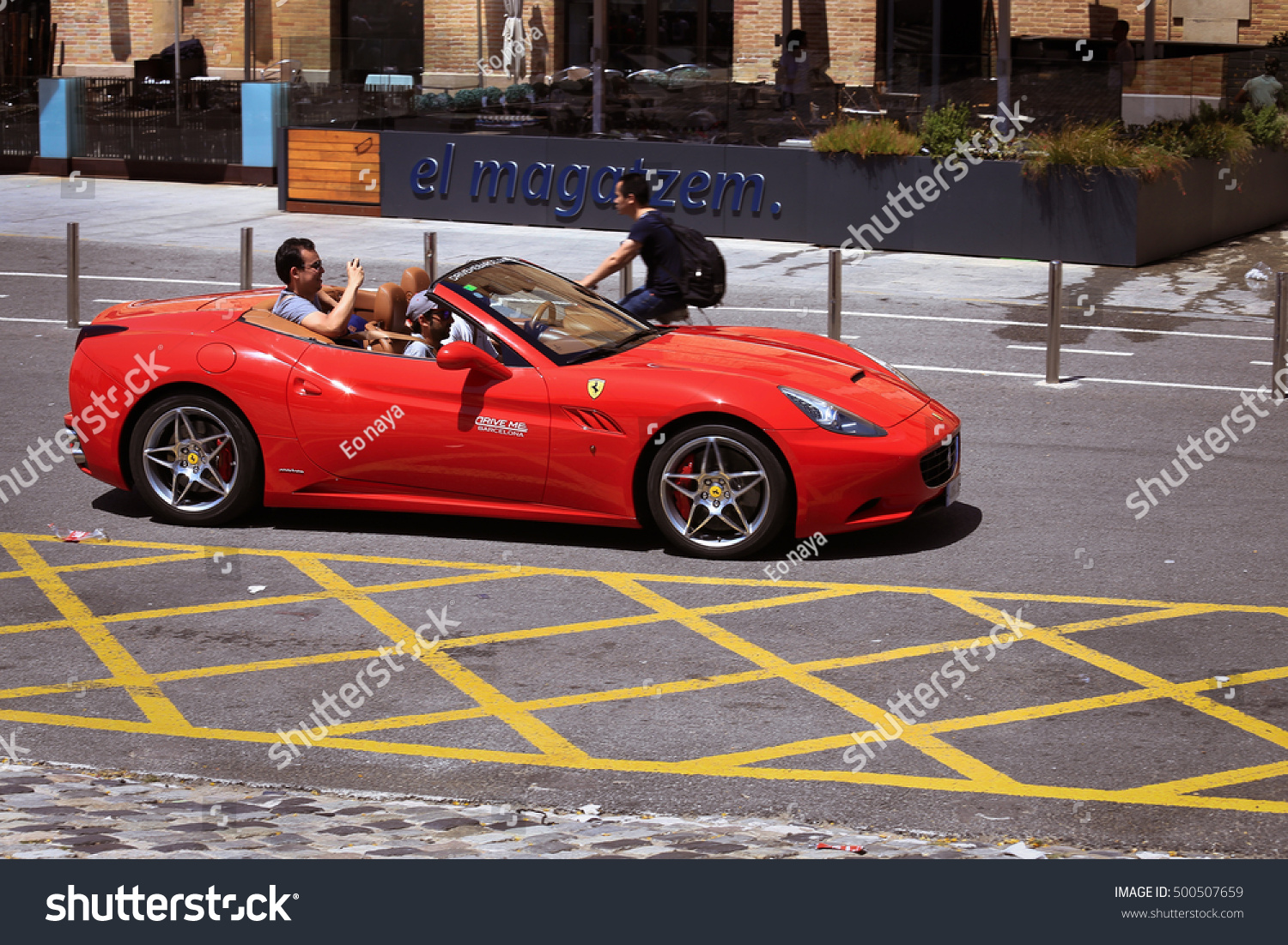 Royalty free barcelona spain june 25 2016 500507659 stock barcelona spain june 25 2016 tourists rent supercar ferrari in barcelona expensive cars and other material symbols are visible everywhere biocorpaavc
