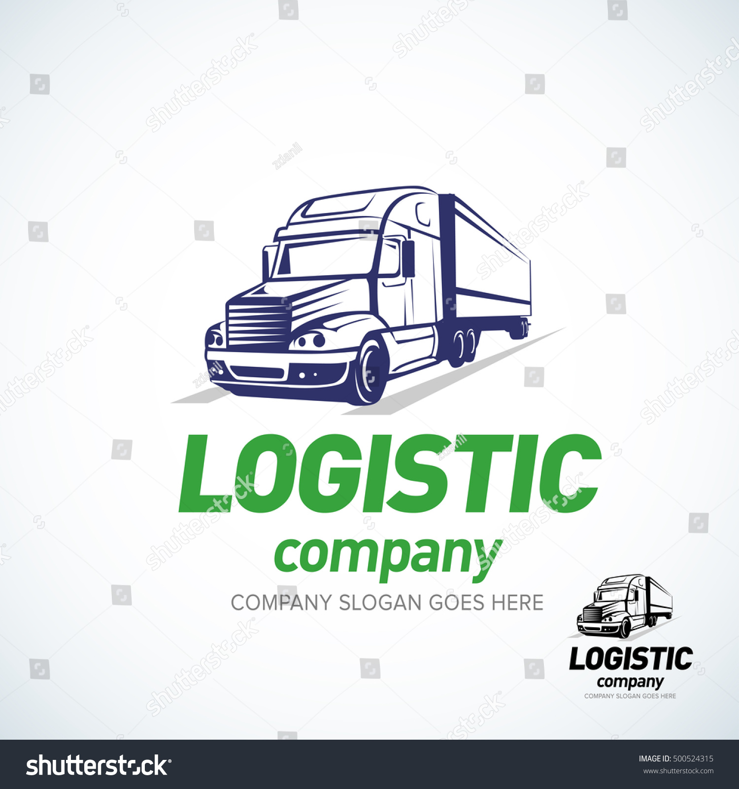 truck logo template logistic truck logo stock vector