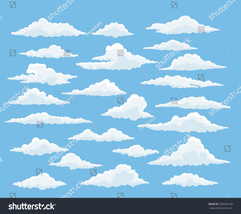 cartoon cloud vector set blue sky stock vector 500545168