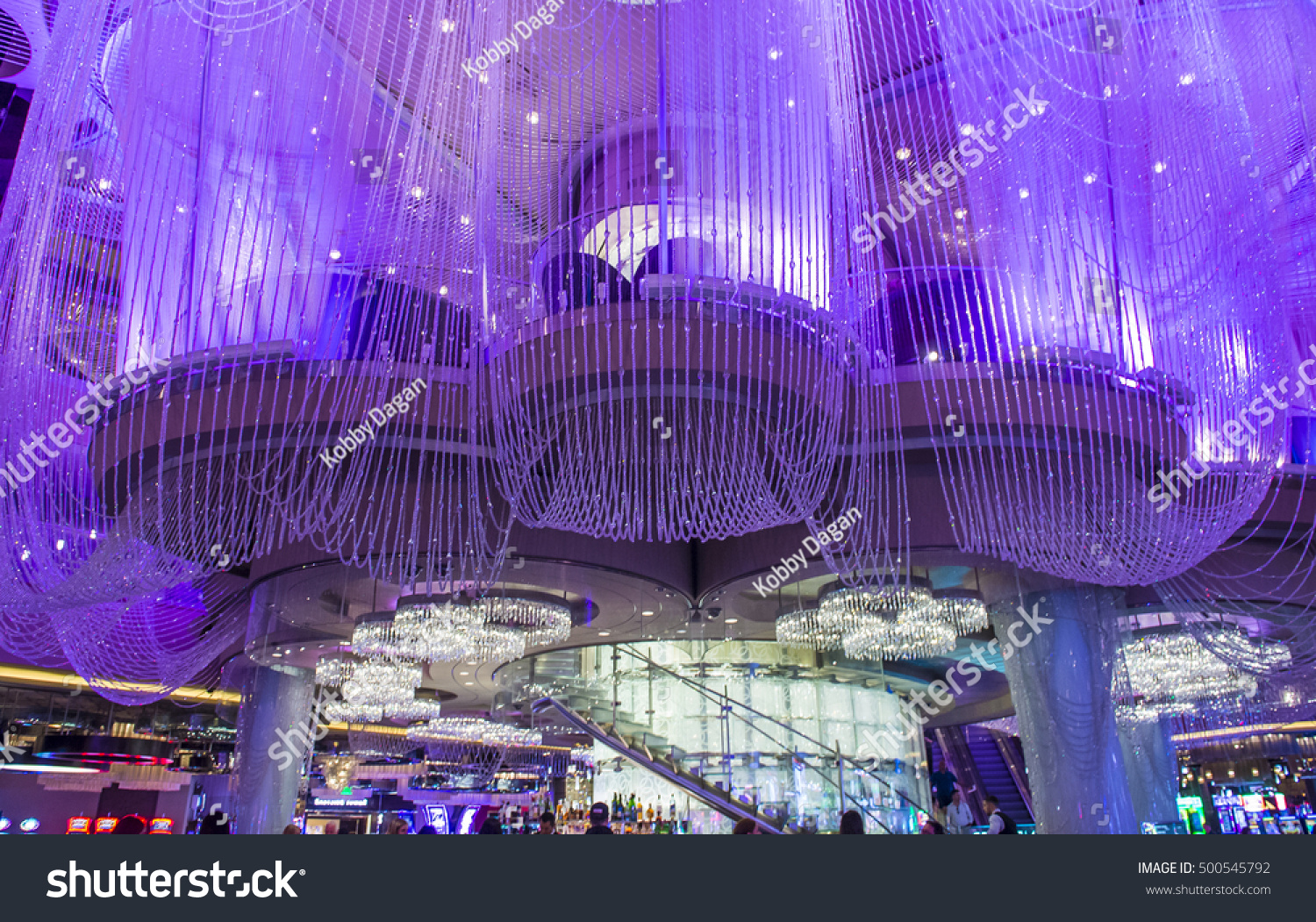 Las vegas oct 05 chandelier bar stock photo edit now shutterstock las vegas oct 05 the chandelier bar at the cosmopolitan hotel casino in aloadofball