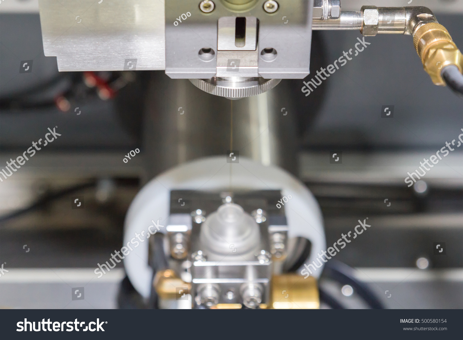 High Precision CNC Wire Cut Machine Stock Photo (100% Legal ...