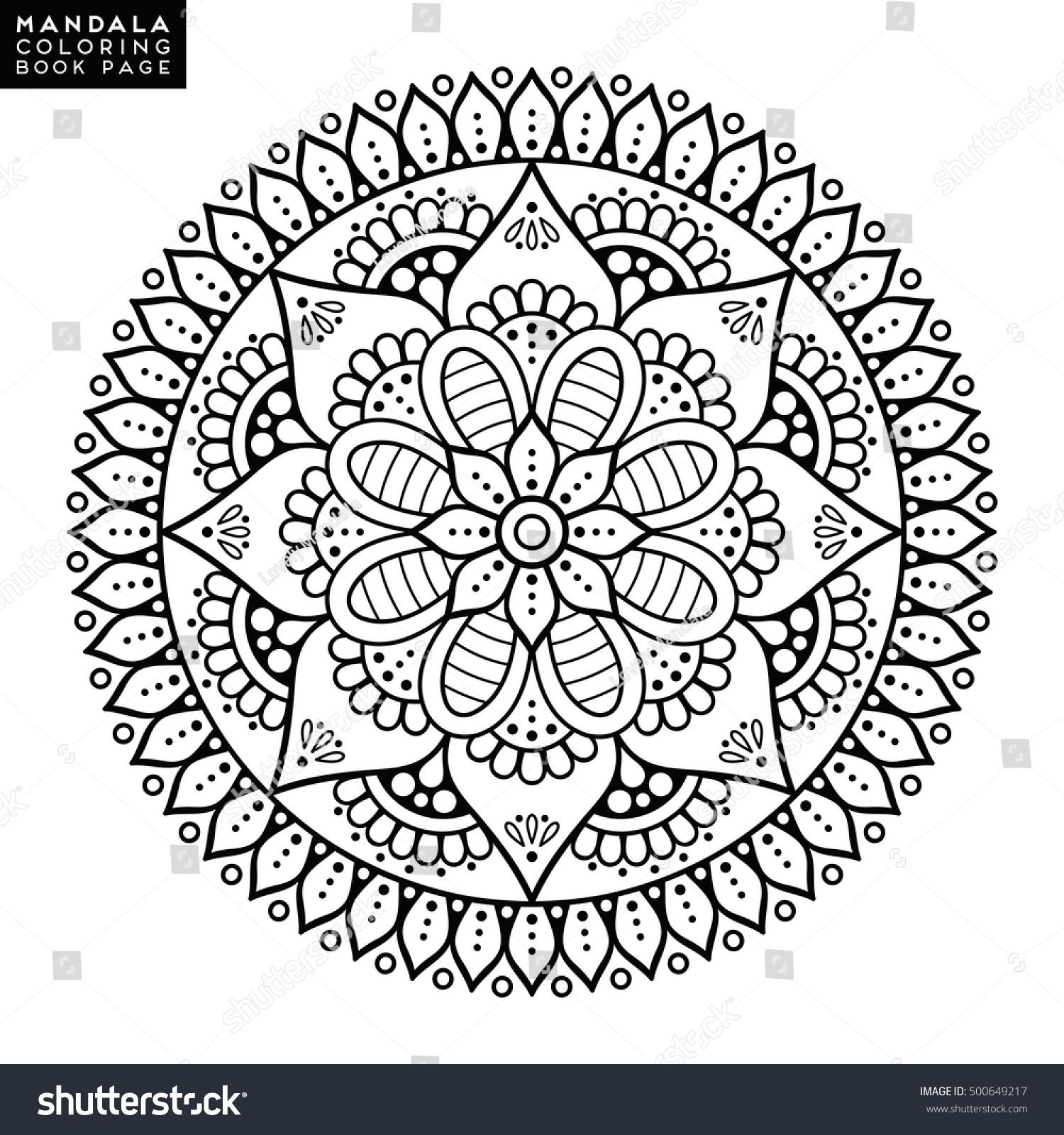 Flower Mandala Vintage Decorative Elements Oriental Stock Vector 500649217