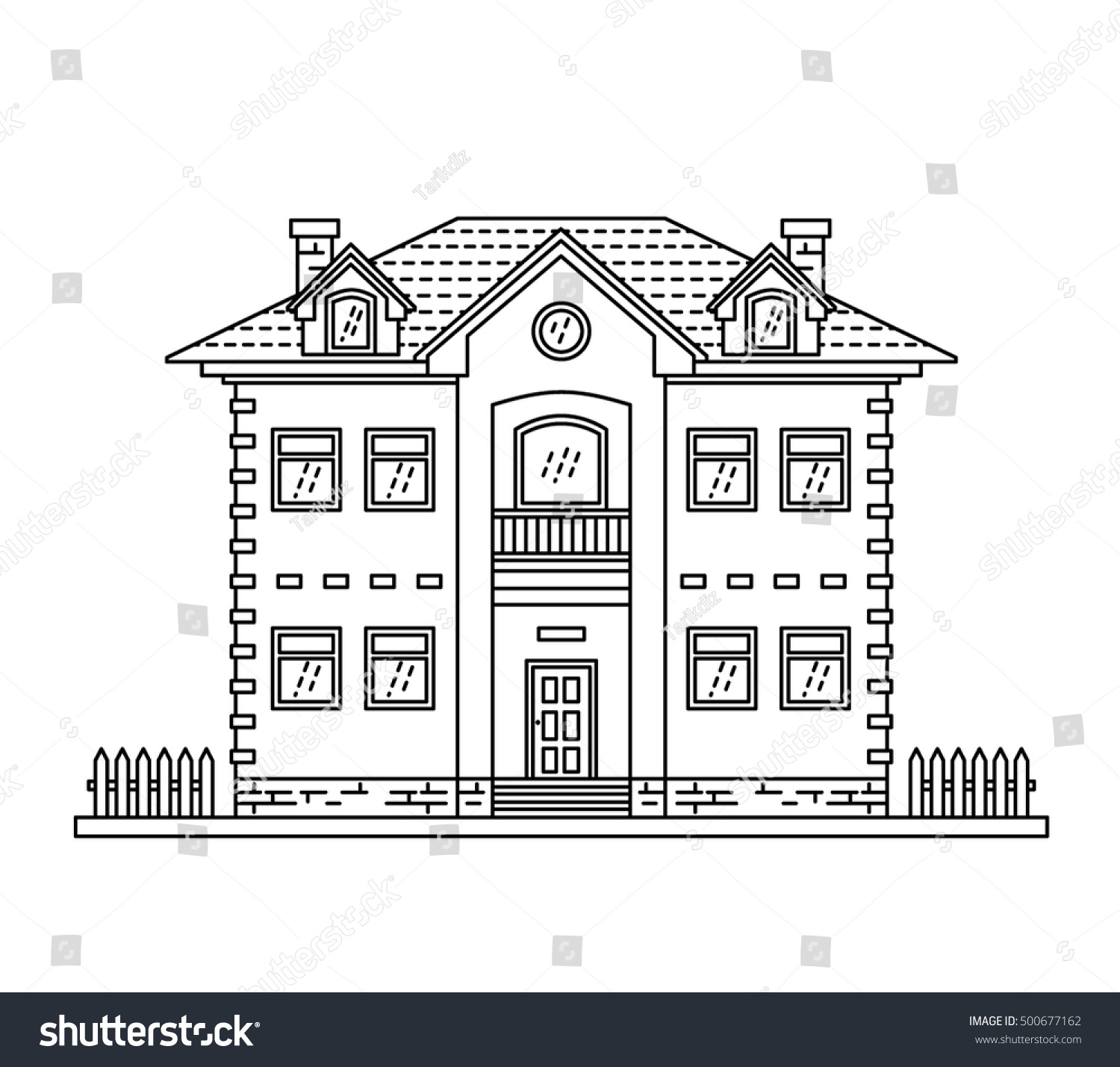 House Cottage Line Drawing Icon