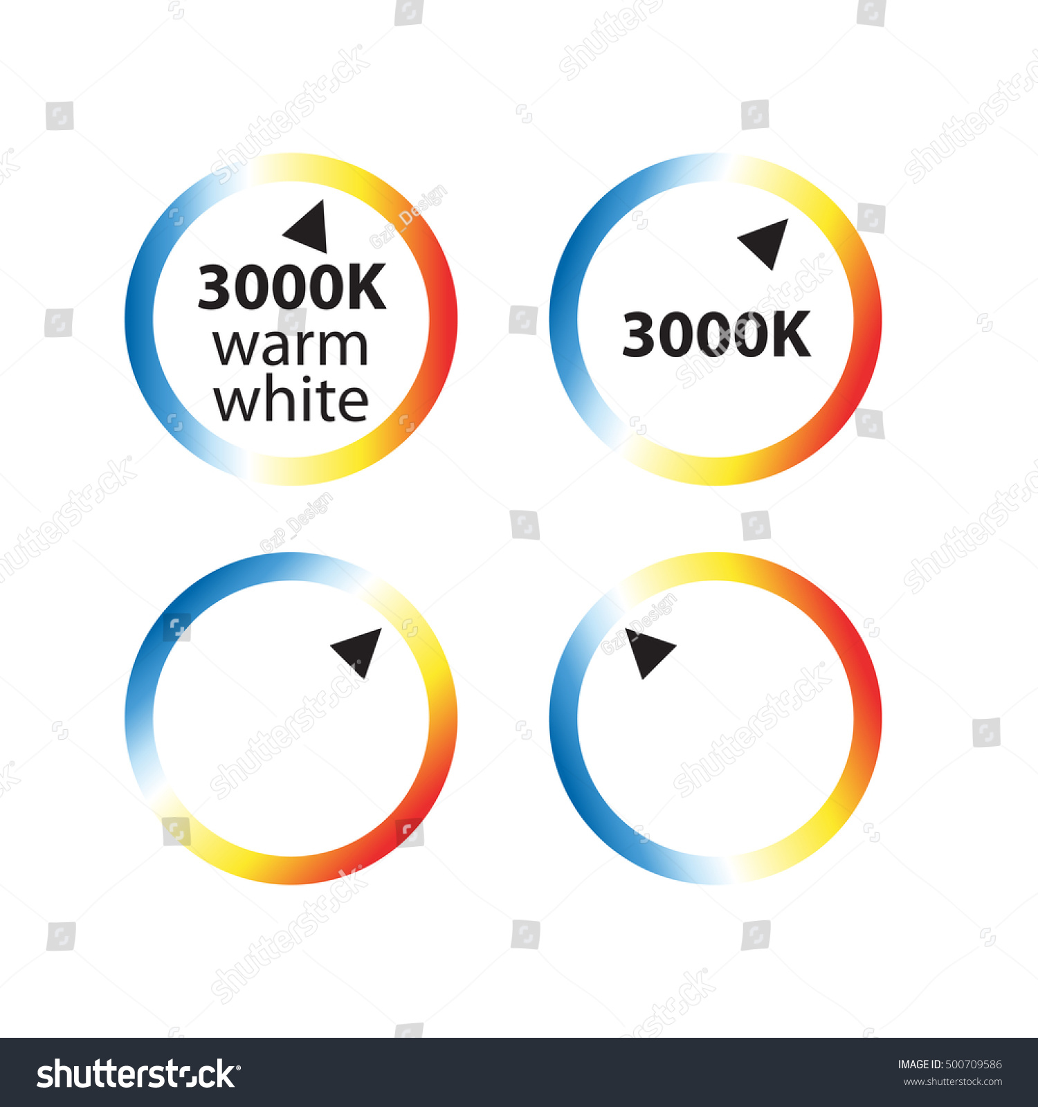 Kelvin color temperature scale chart led stock vector 500709586 kelvin color temperature scale chart led light vector illustration nvjuhfo Image collections