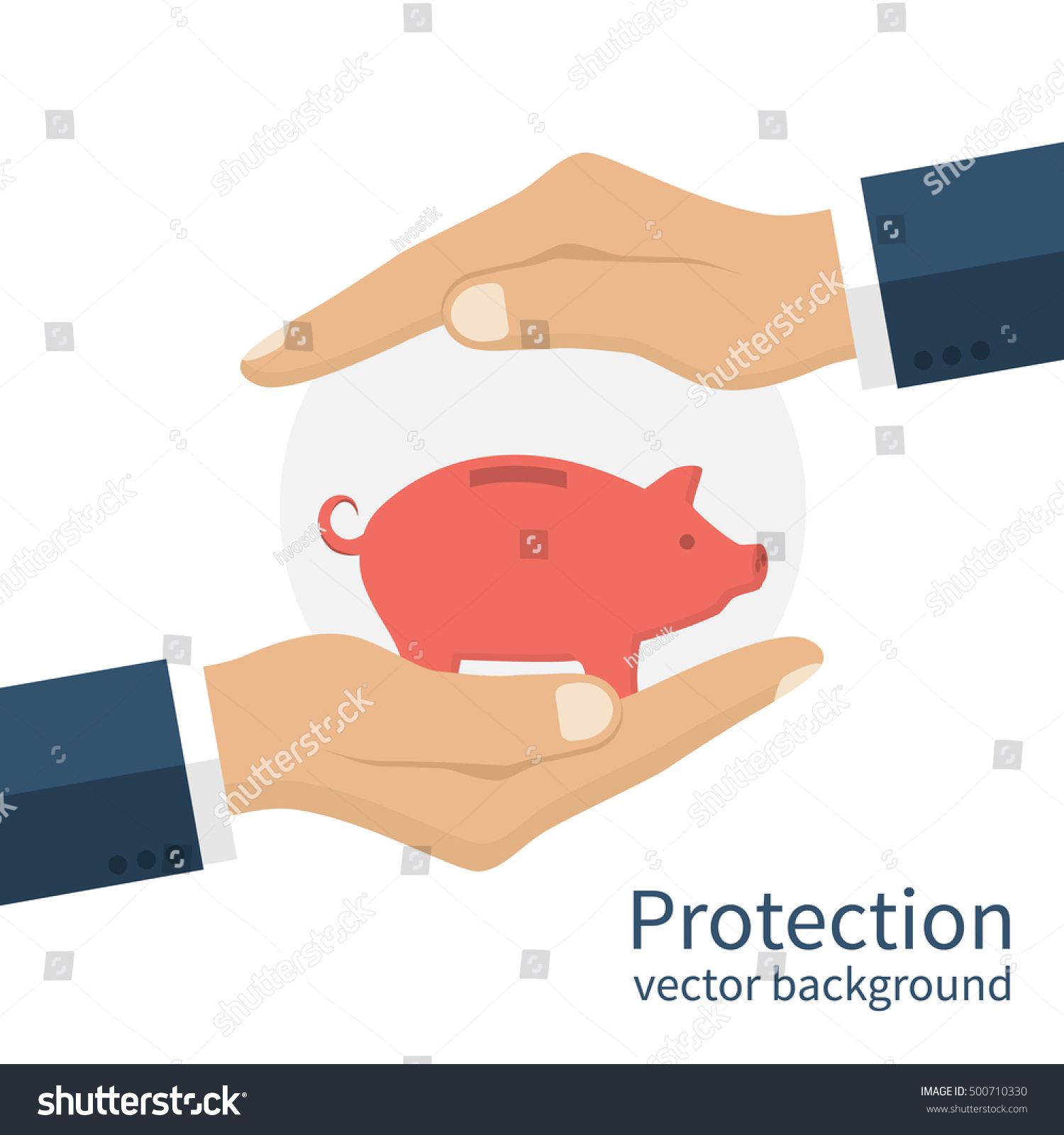 Piggy bank hands symbol protection money stock vector 500710330 piggy bank in hands as a symbol of protection money concept safe and secure biocorpaavc