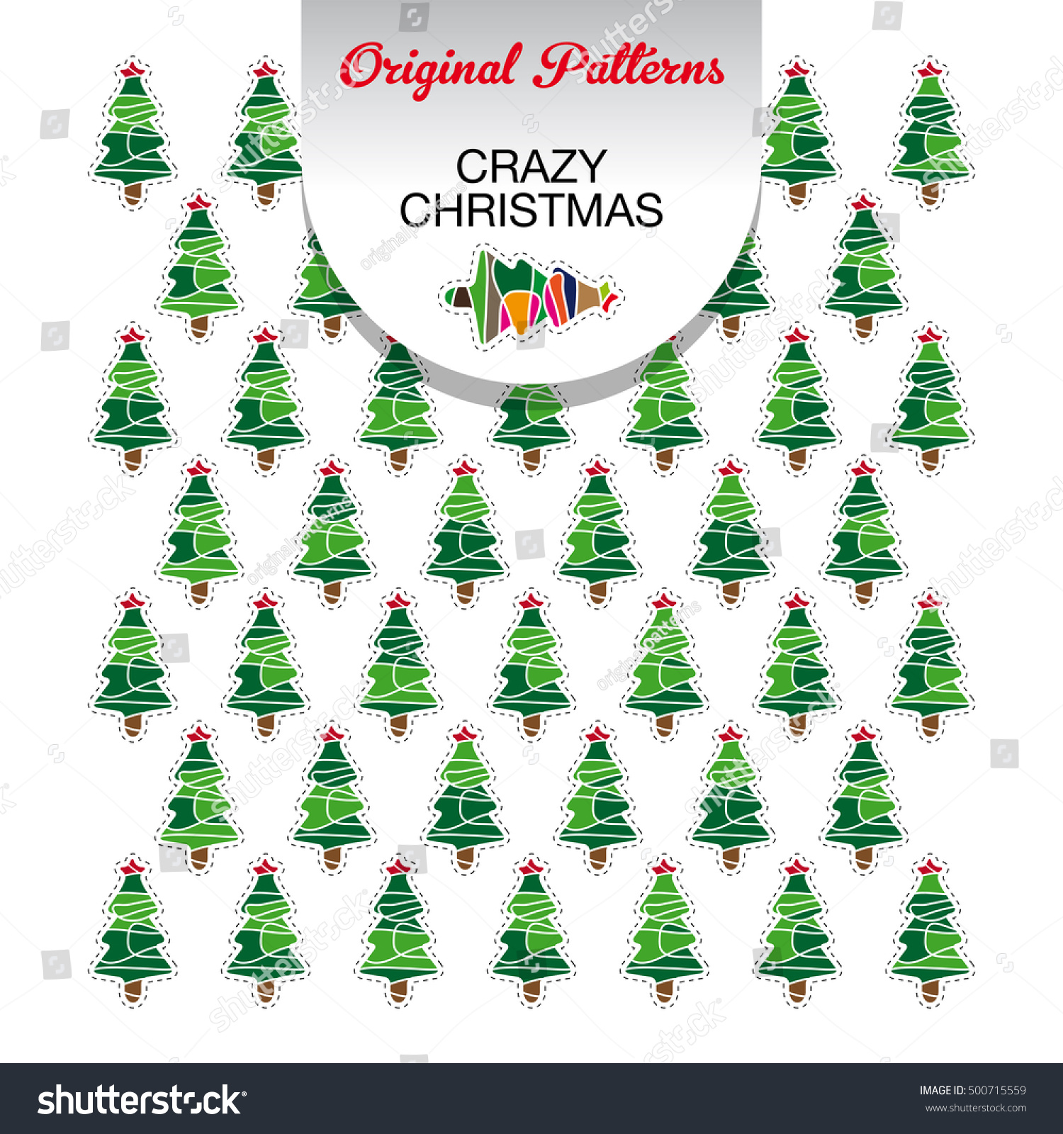 Original Crazy Christmas Pattern Can Be Stock Vector 500715559 ...