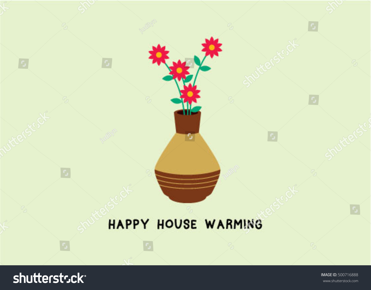 House warming greeting card plant graphic stock vector hd royalty house warming greeting card with plant graphic m4hsunfo