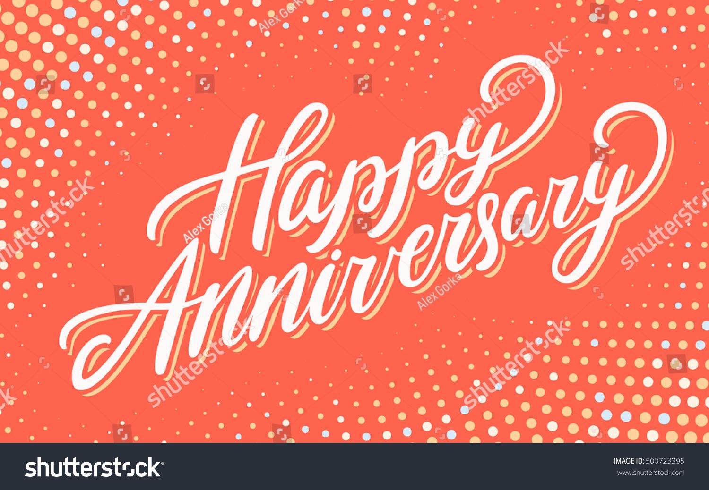 Happy Anniversary Greeting Card Stock Vector 500723395 Shutterstock