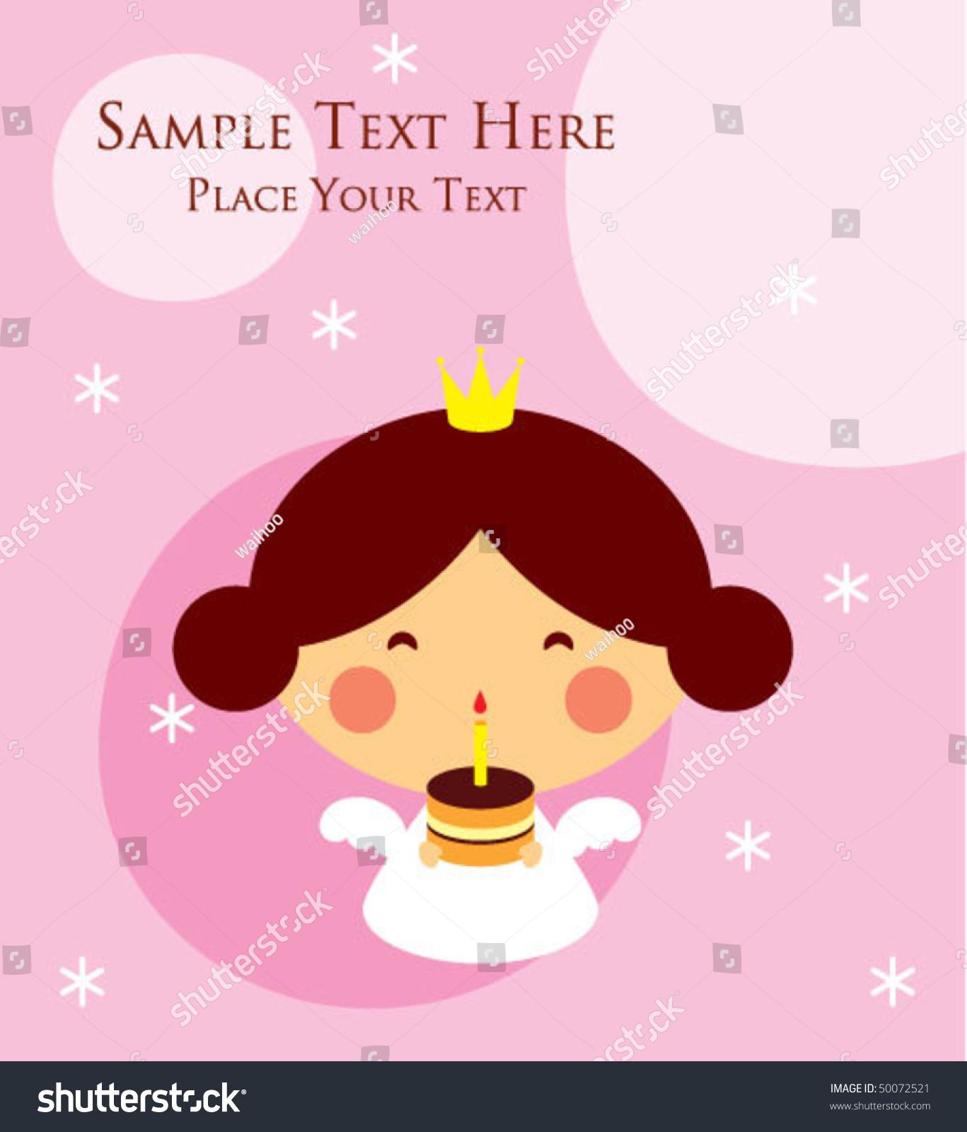 Princess angel birthday greeting tag stock vector 50072521 princess angel birthday greeting tag m4hsunfo