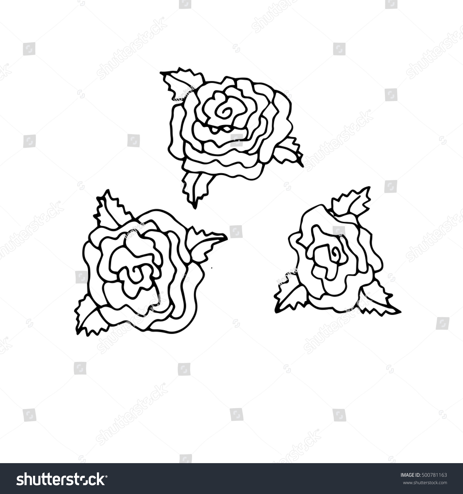 hand drawn doodle outline magic line stock vector 500781163