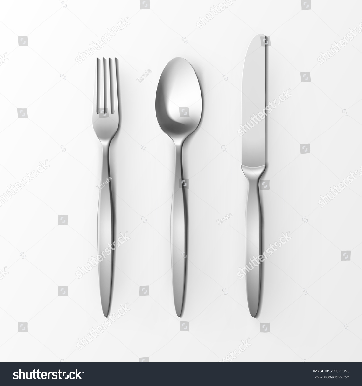 The Silver Plug And Spoon Isolated On Grey Background Ez Canvas