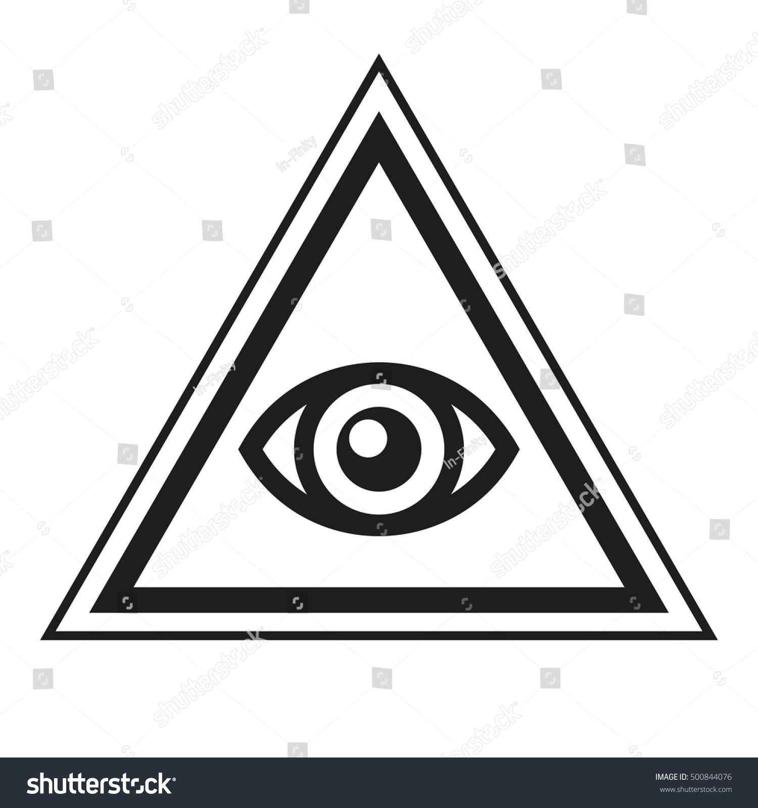 Royalty Free Masonic Symbol All Seeing Eye Inside 500844076 Stock