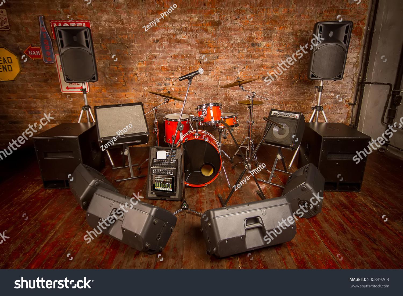 Music Speakers Drum Set Ez Canvas