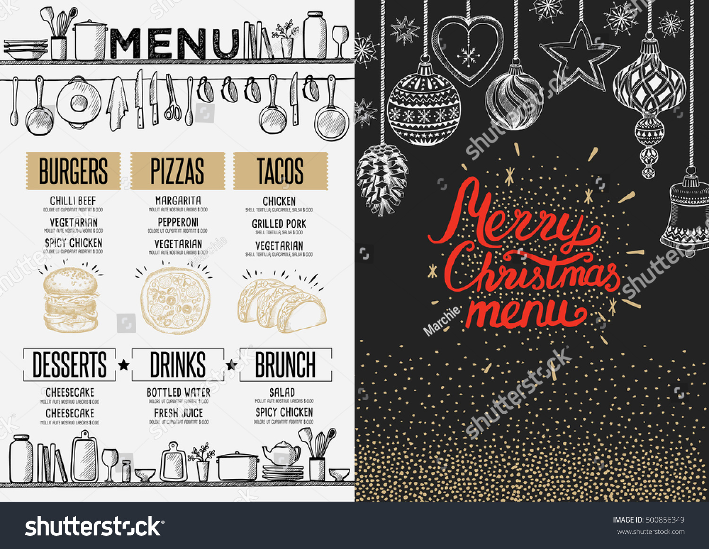 christmas restaurant brochure menu template vector stock vector christmas restaurant brochure menu template vector holiday background and design banner happy new