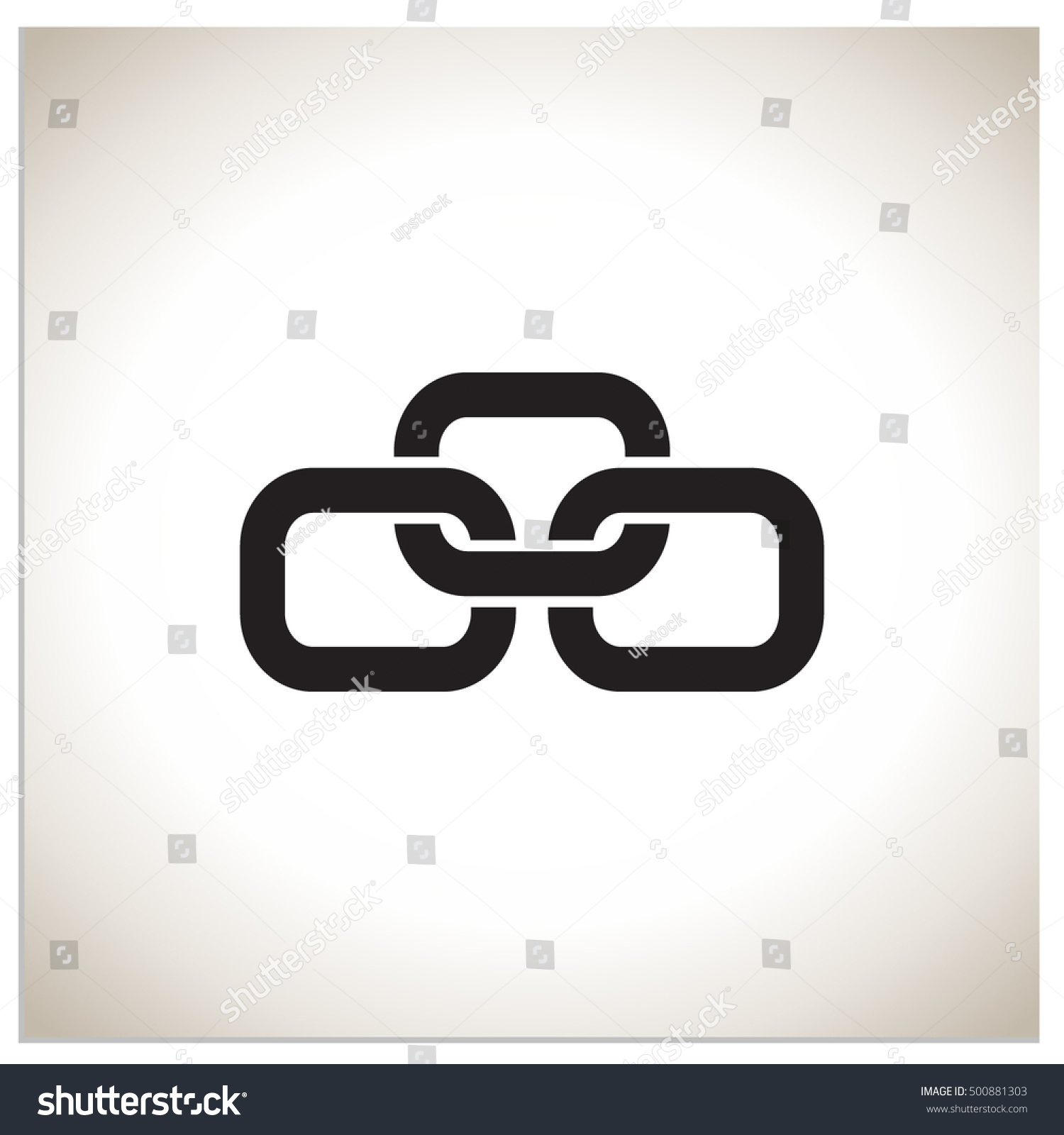 Isolated sign symbol three linked chain stock vector 500881303 isolated sign symbol of three linked chain the vector logo which symbolizes the union buycottarizona
