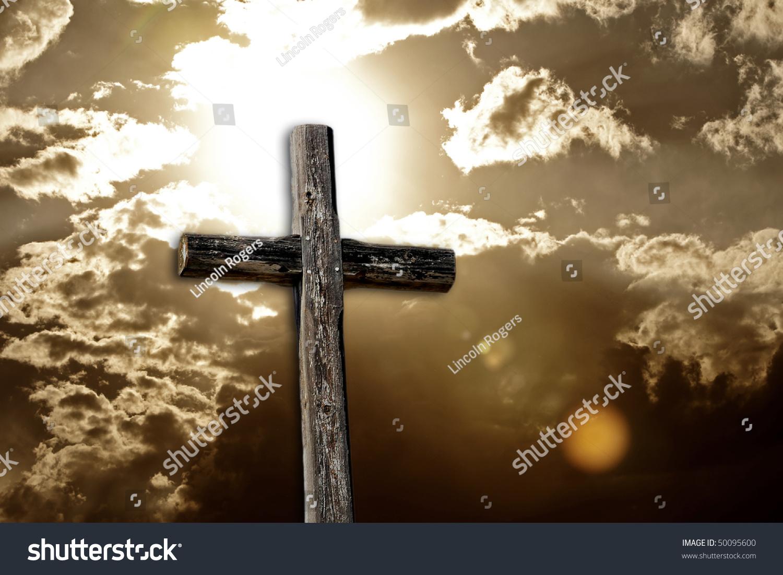Rugged Wooden Cross