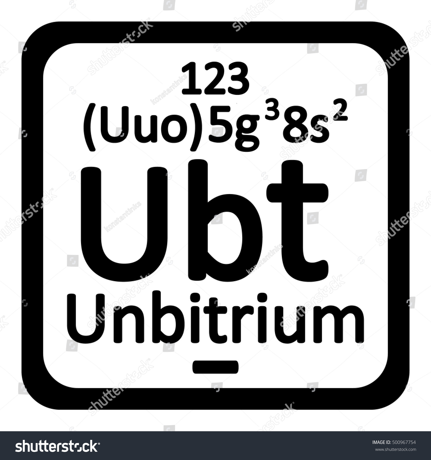 Periodic table element unbitrium icon on stock vector 500967754 periodic table element unbitrium icon on white background vector illustration gamestrikefo Image collections