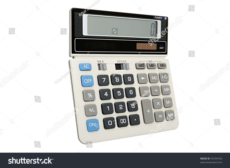 Calculator Autonomous Power Supply Solar Battery Stock Photo