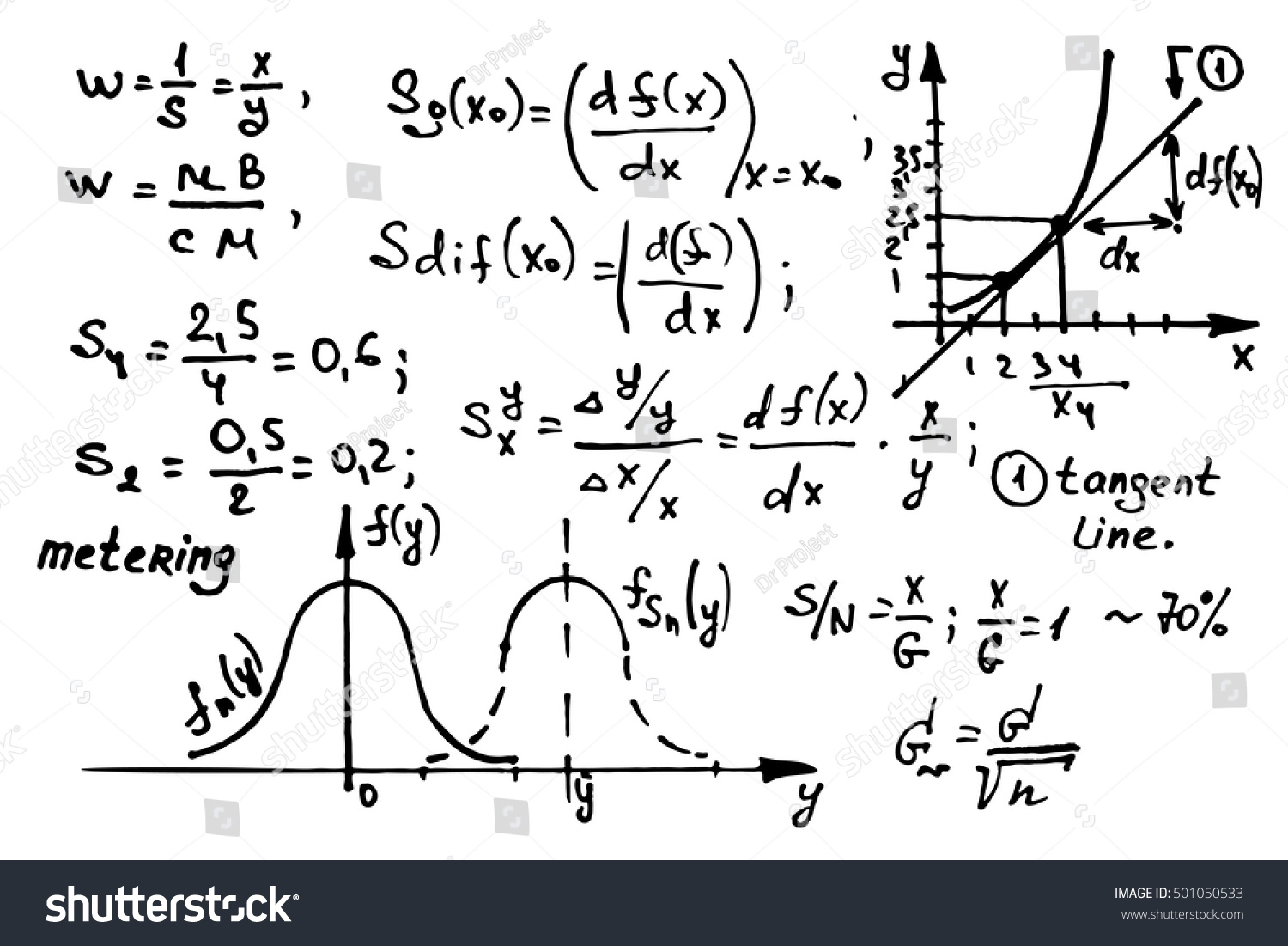 Mathematics Equations On Whiteboard Education Vector Stock Vector ...