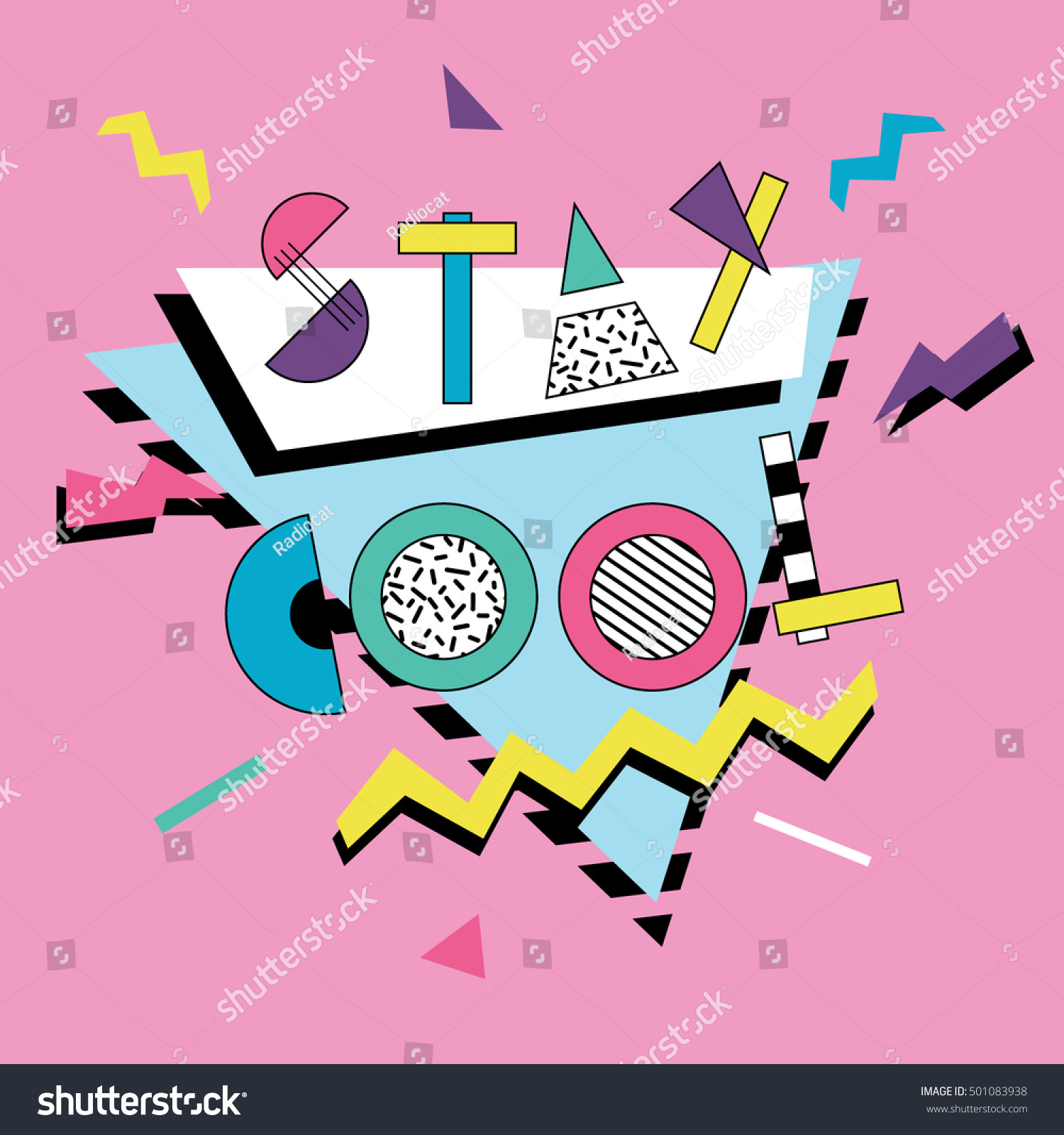 stay cool card retro 80 s 90 s stock photo photo vector rh shutterstock com cool vector art tutorial cool vector art sites