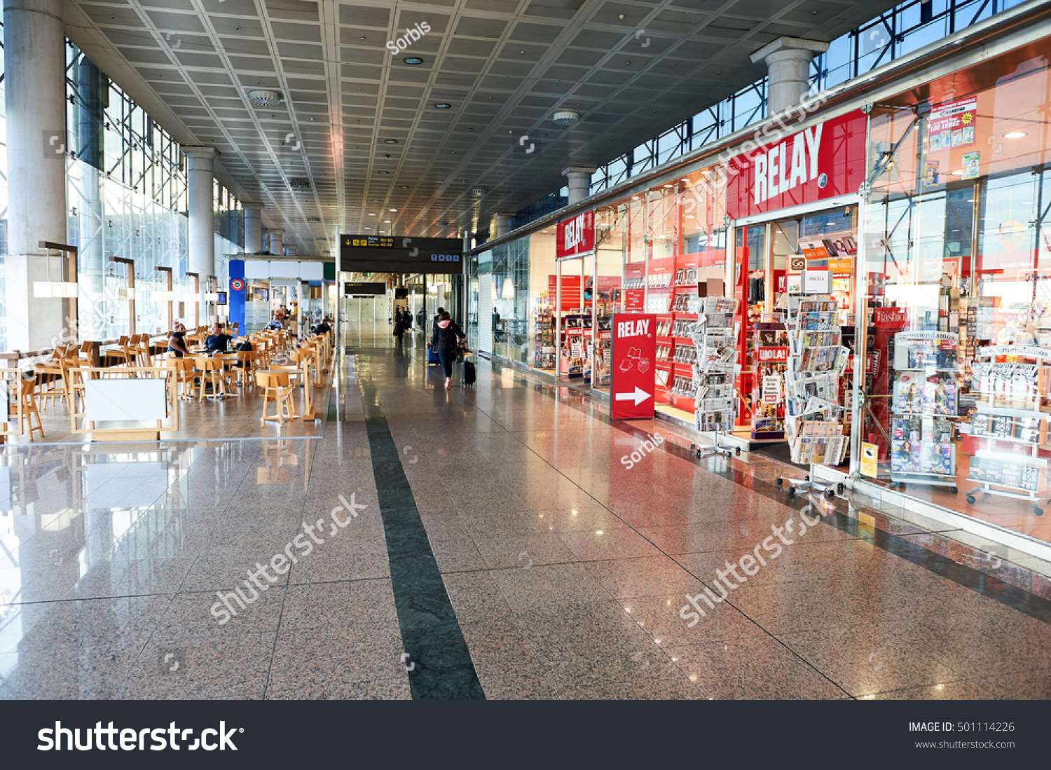 Relay Terminal Transportation Barcelona Spain Circa November 2015 Stock Photo Edit Now Store At Airport