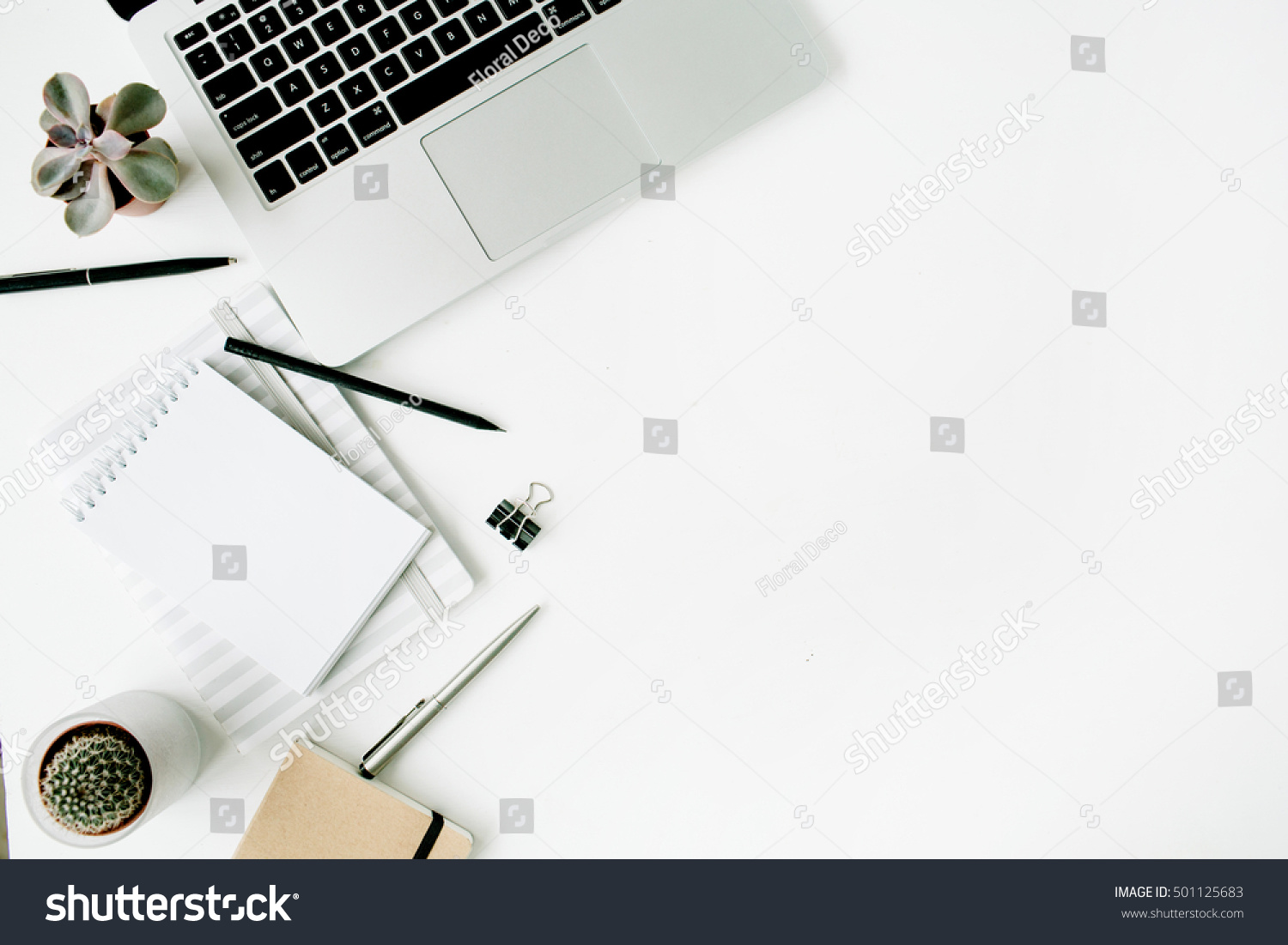 stylish office tables. Stylish Office Table Desk. Workspace With Laptop, Diary, Succulent On White Background. Tables